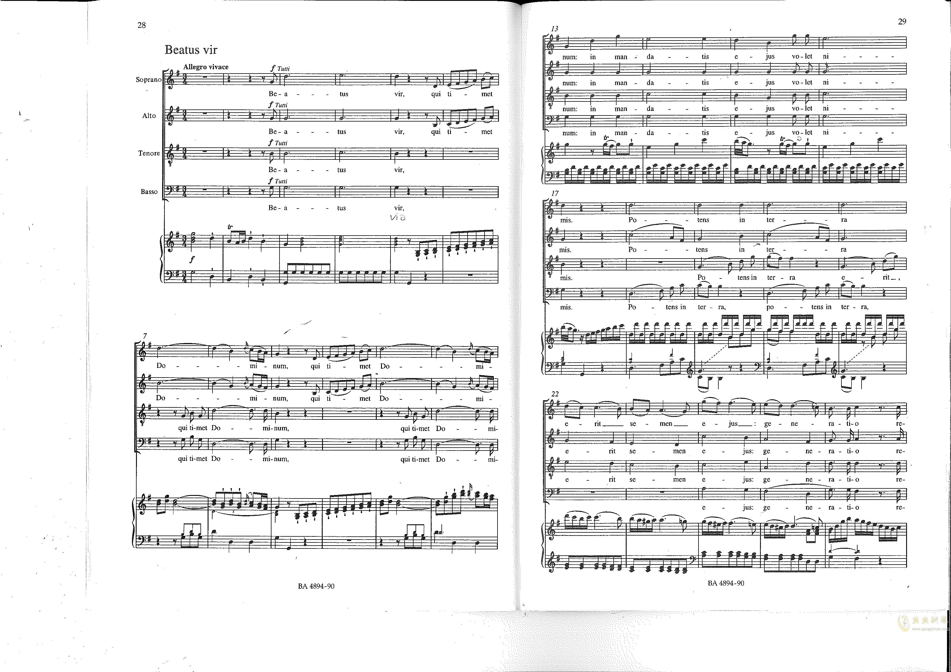 Vesperae solennes de confessore K. 339钢琴谱 第15页