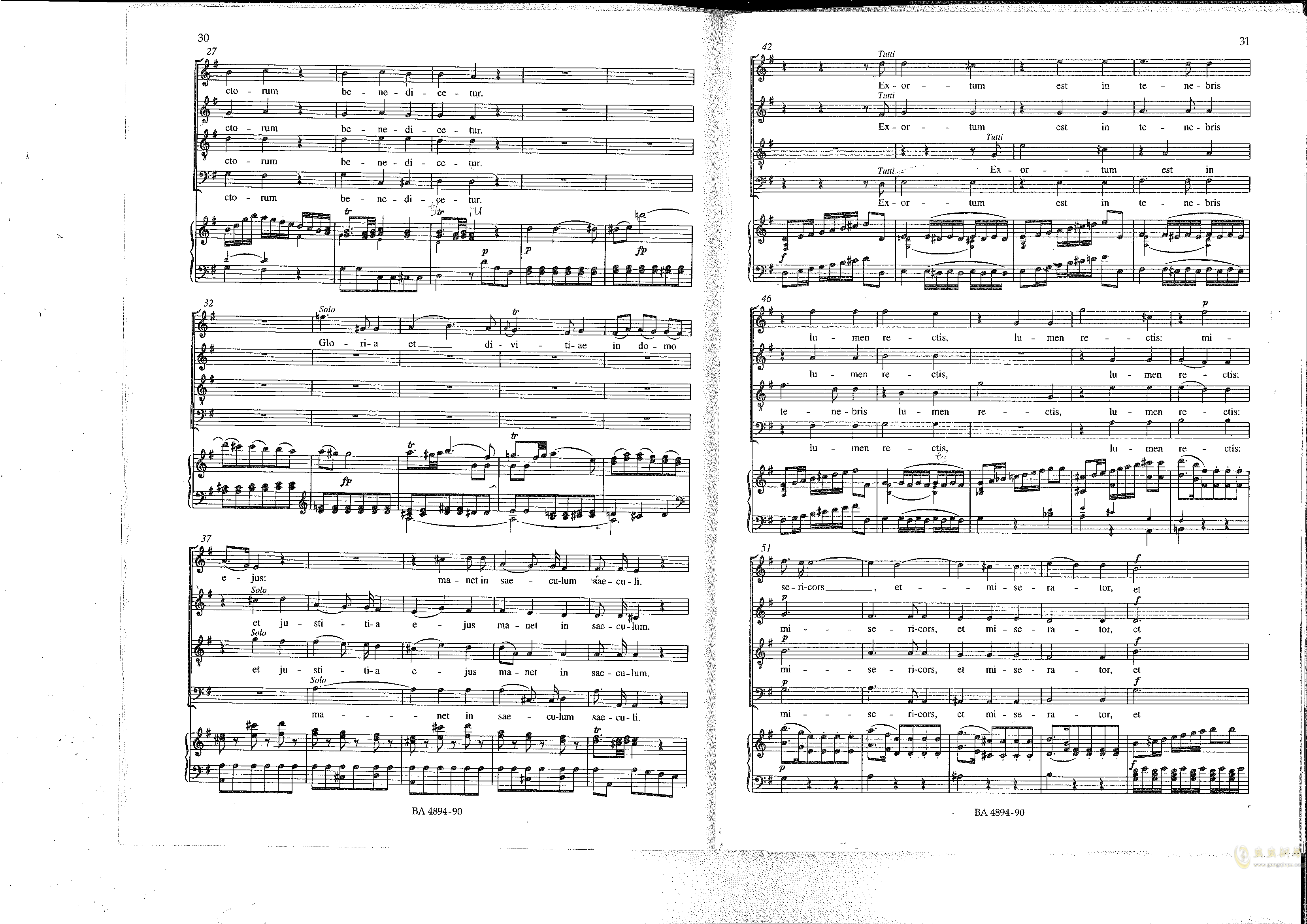Vesperae solennes de confessore K. 339钢琴谱 第16页