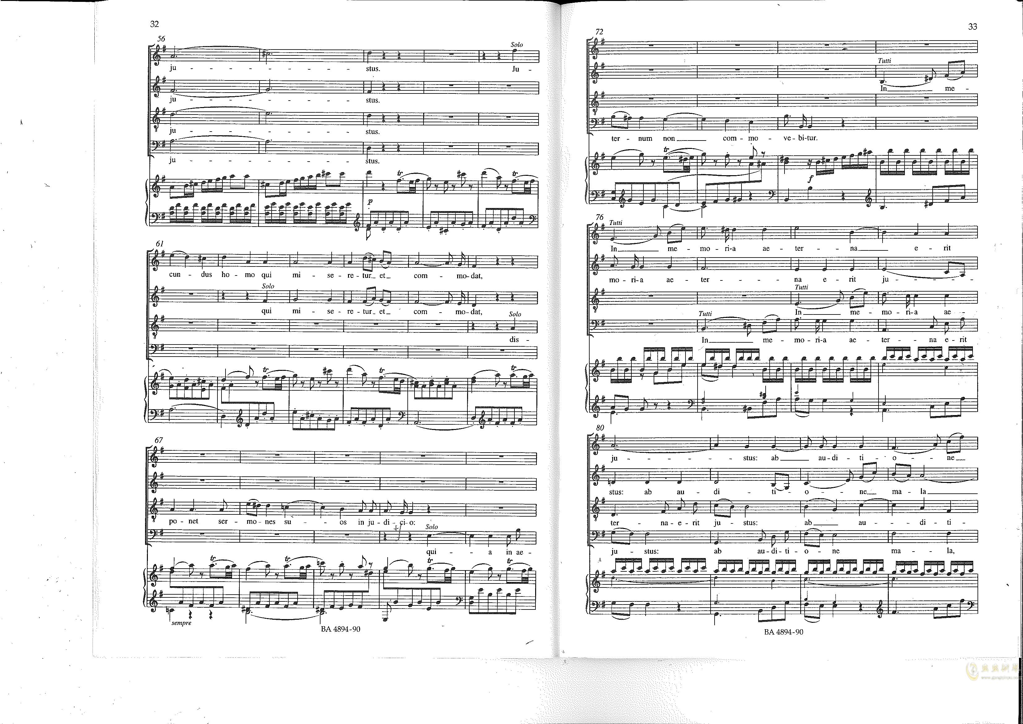 Vesperae solennes de confessore K. 339钢琴谱 第17页