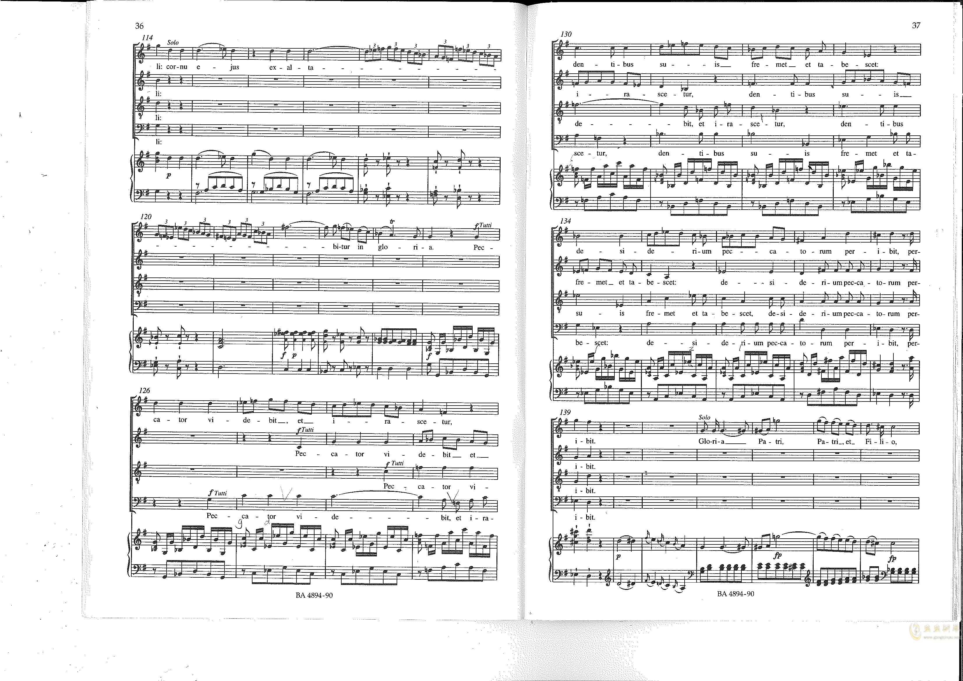 Vesperae solennes de confessore K. 339钢琴谱 第19页