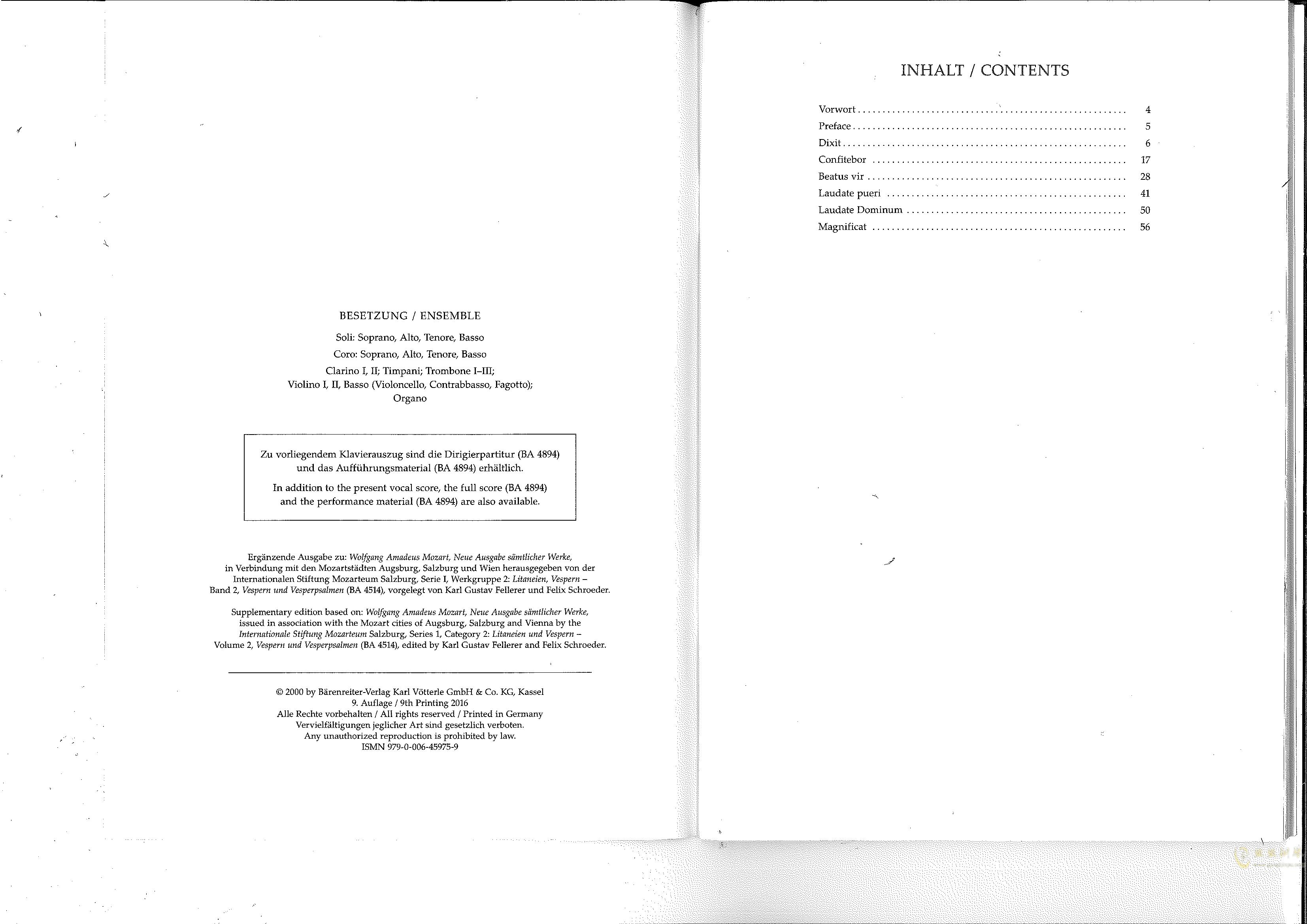 Vesperae solennes de confessore K. 339钢琴谱 第2页