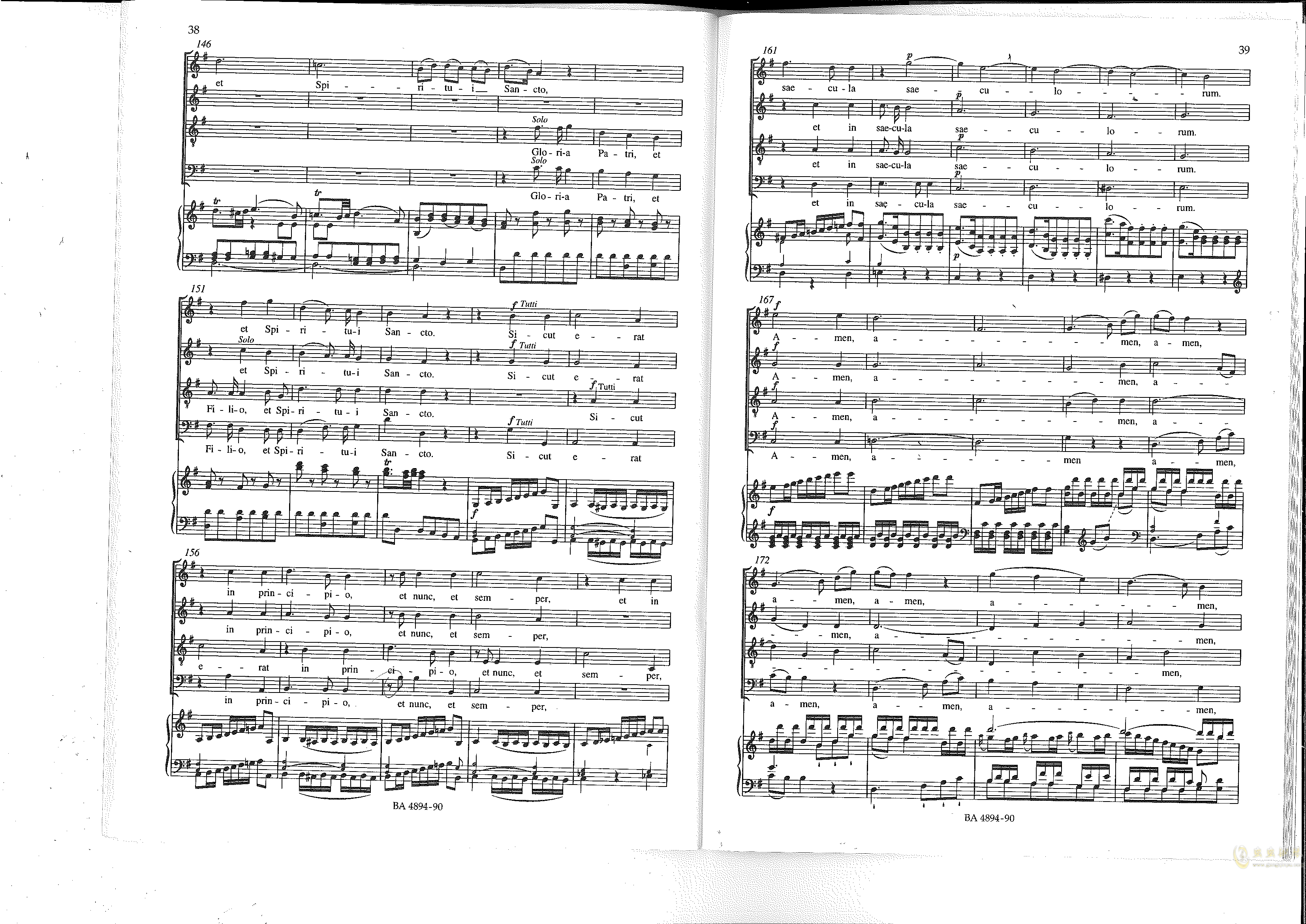 Vesperae solennes de confessore K. 339钢琴谱 第20页