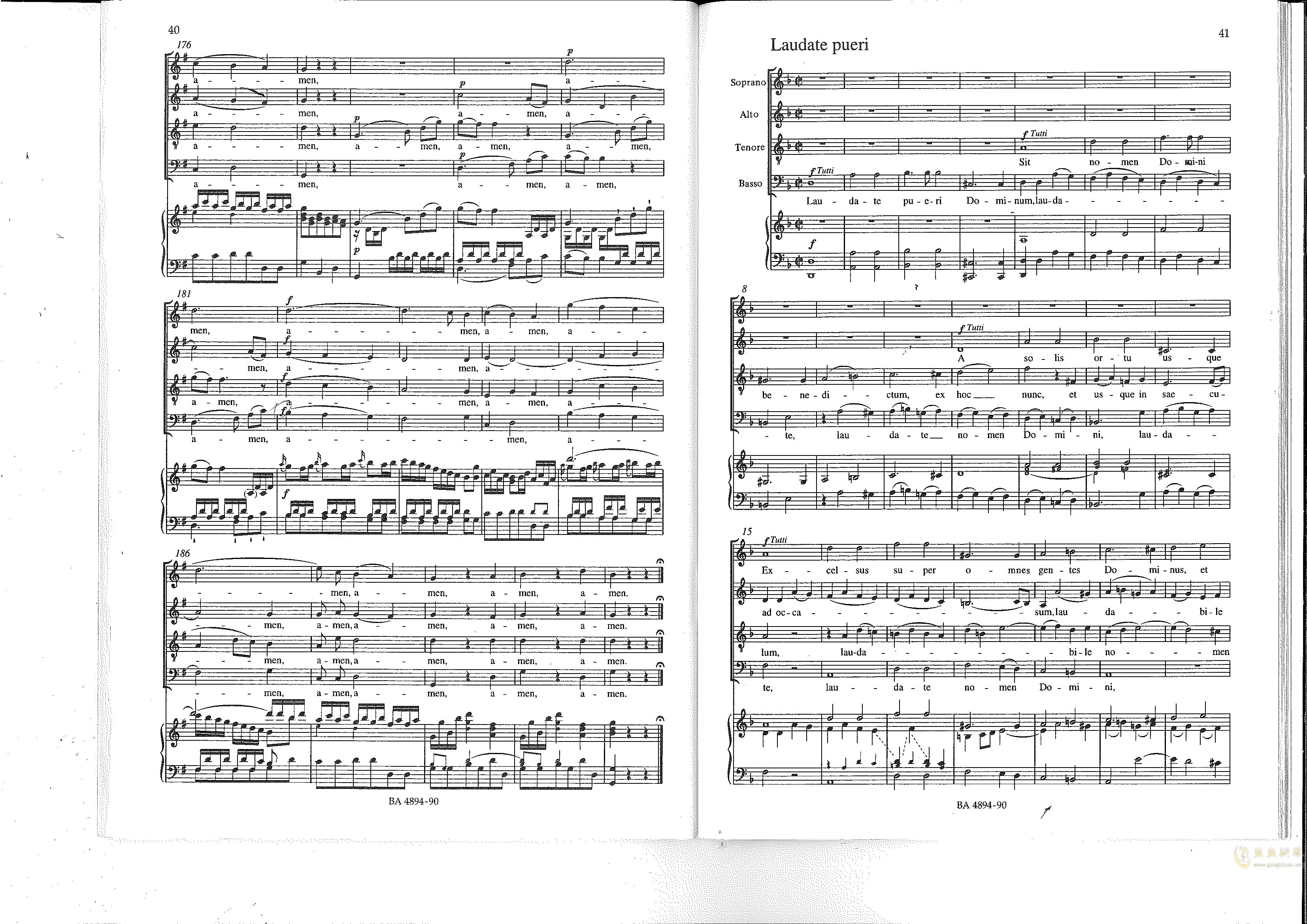 Vesperae solennes de confessore K. 339钢琴谱 第21页