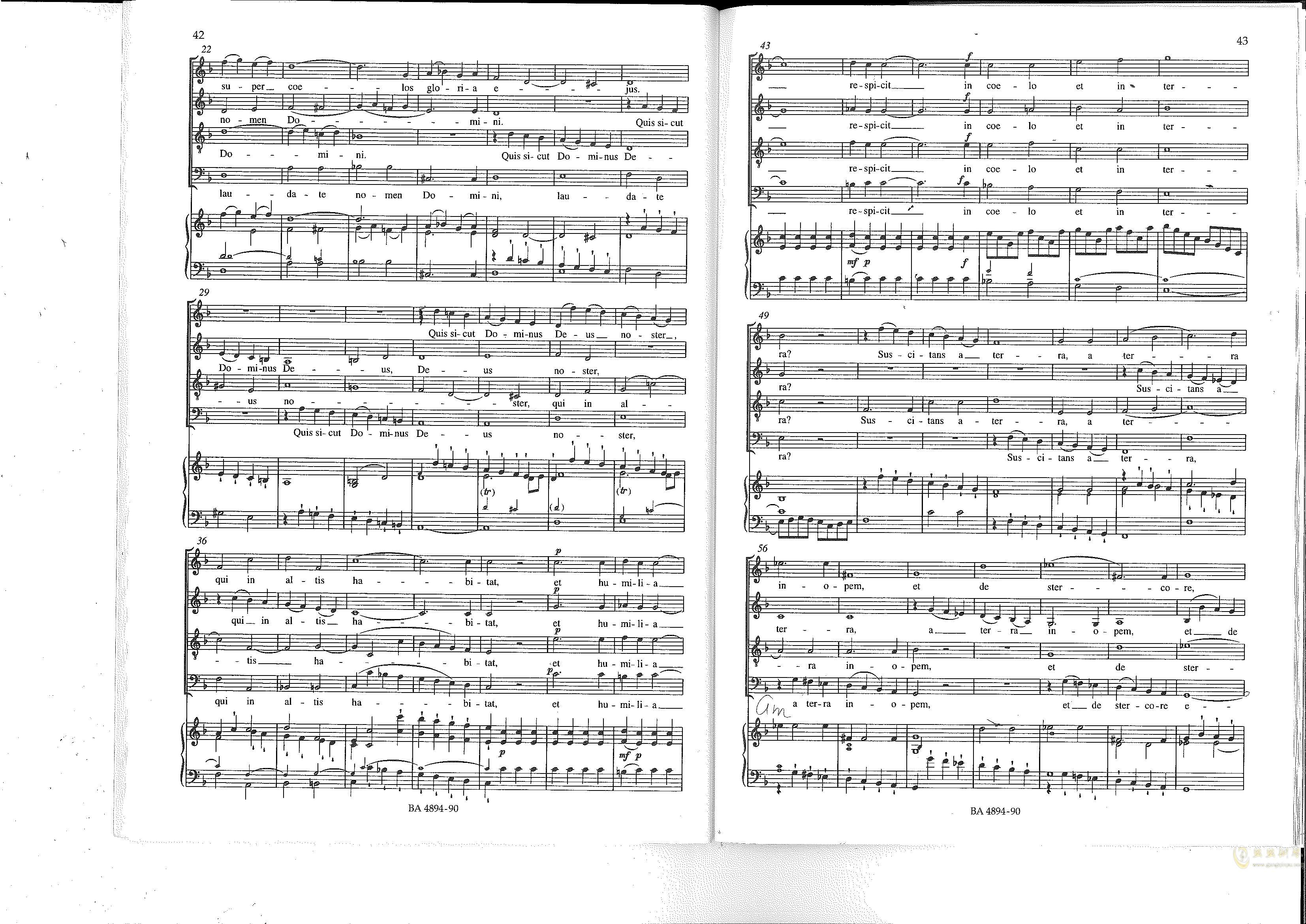 Vesperae solennes de confessore K. 339钢琴谱 第22页