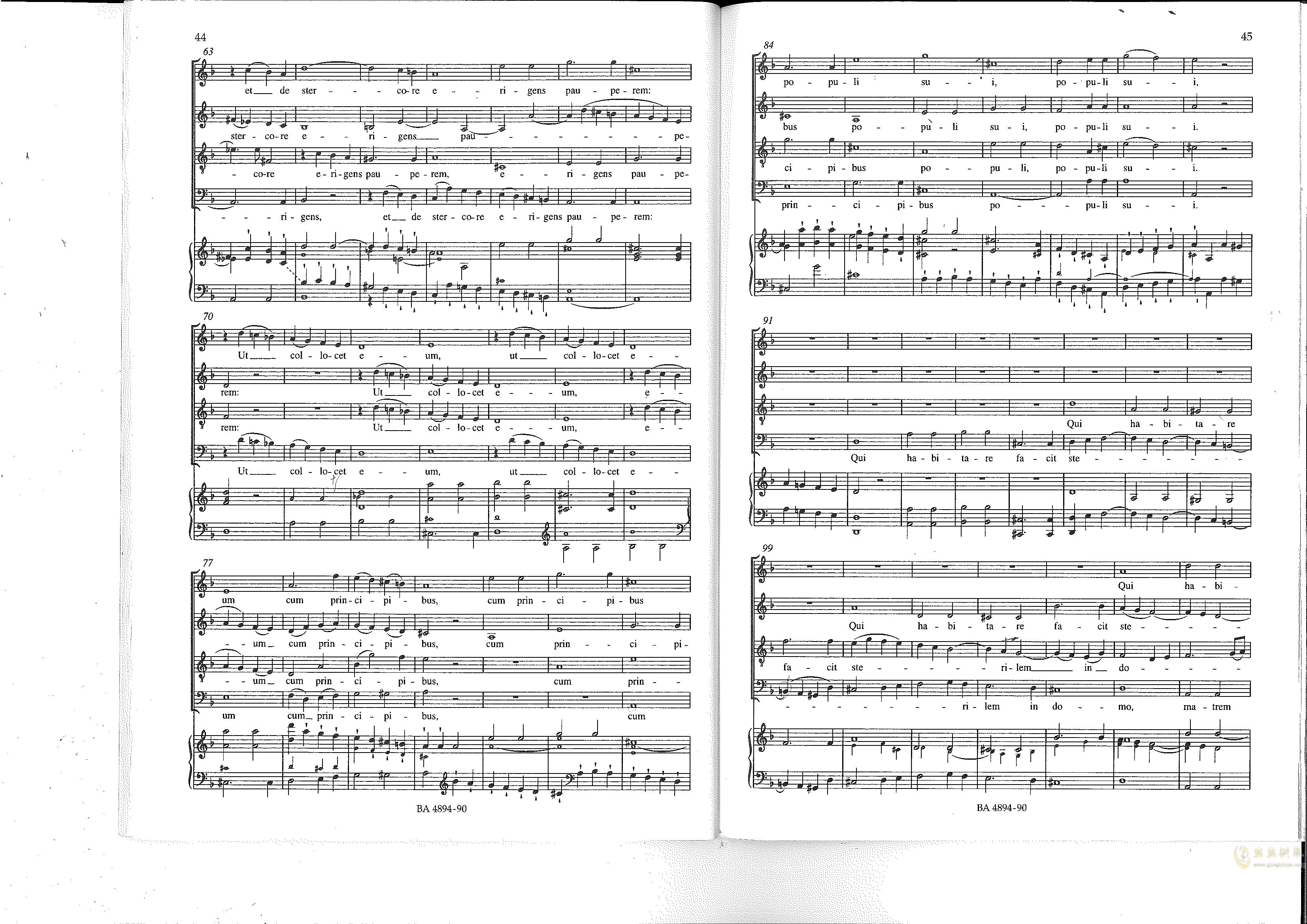 Vesperae solennes de confessore K. 339钢琴谱 第23页