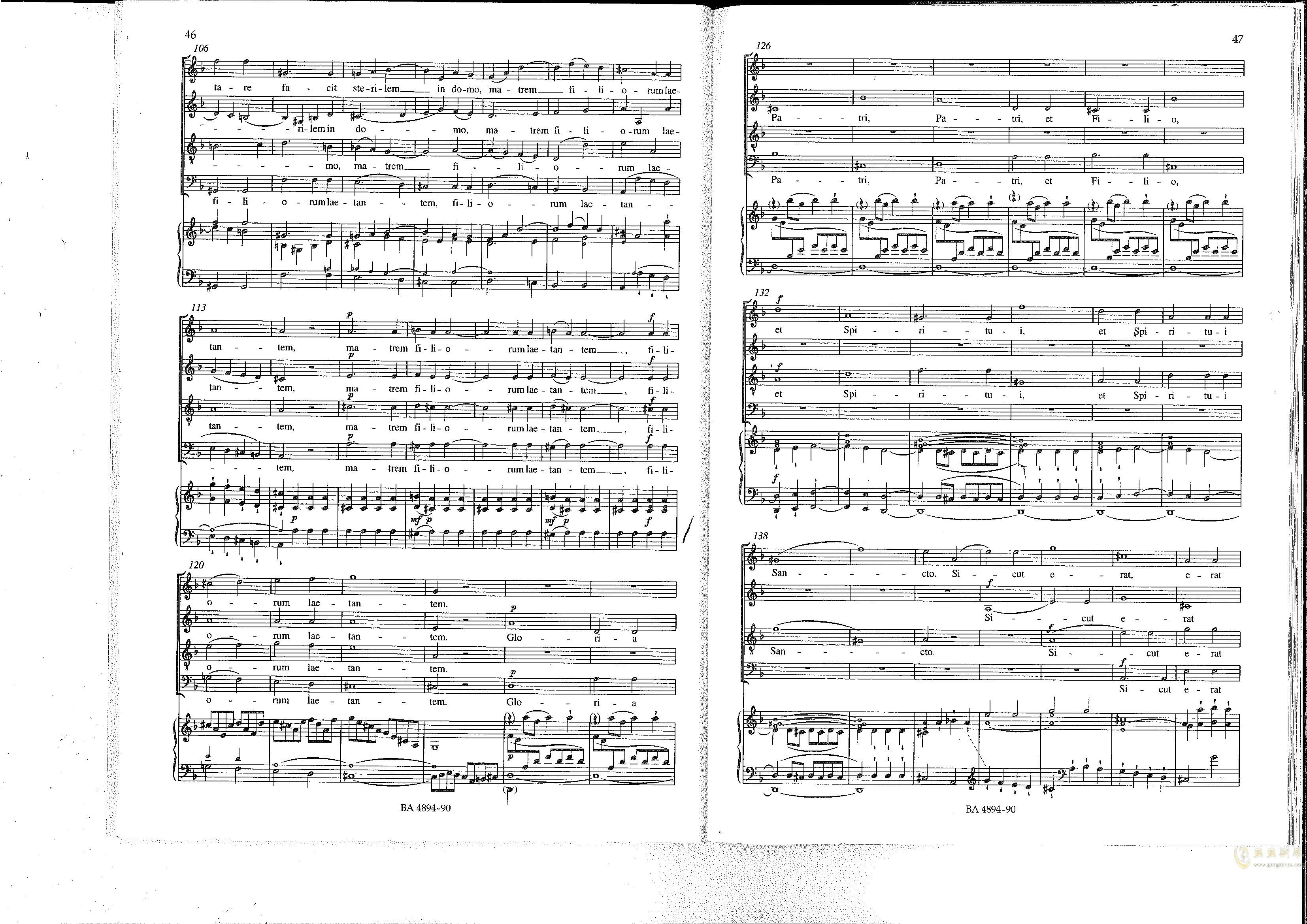 Vesperae solennes de confessore K. 339钢琴谱 第24页
