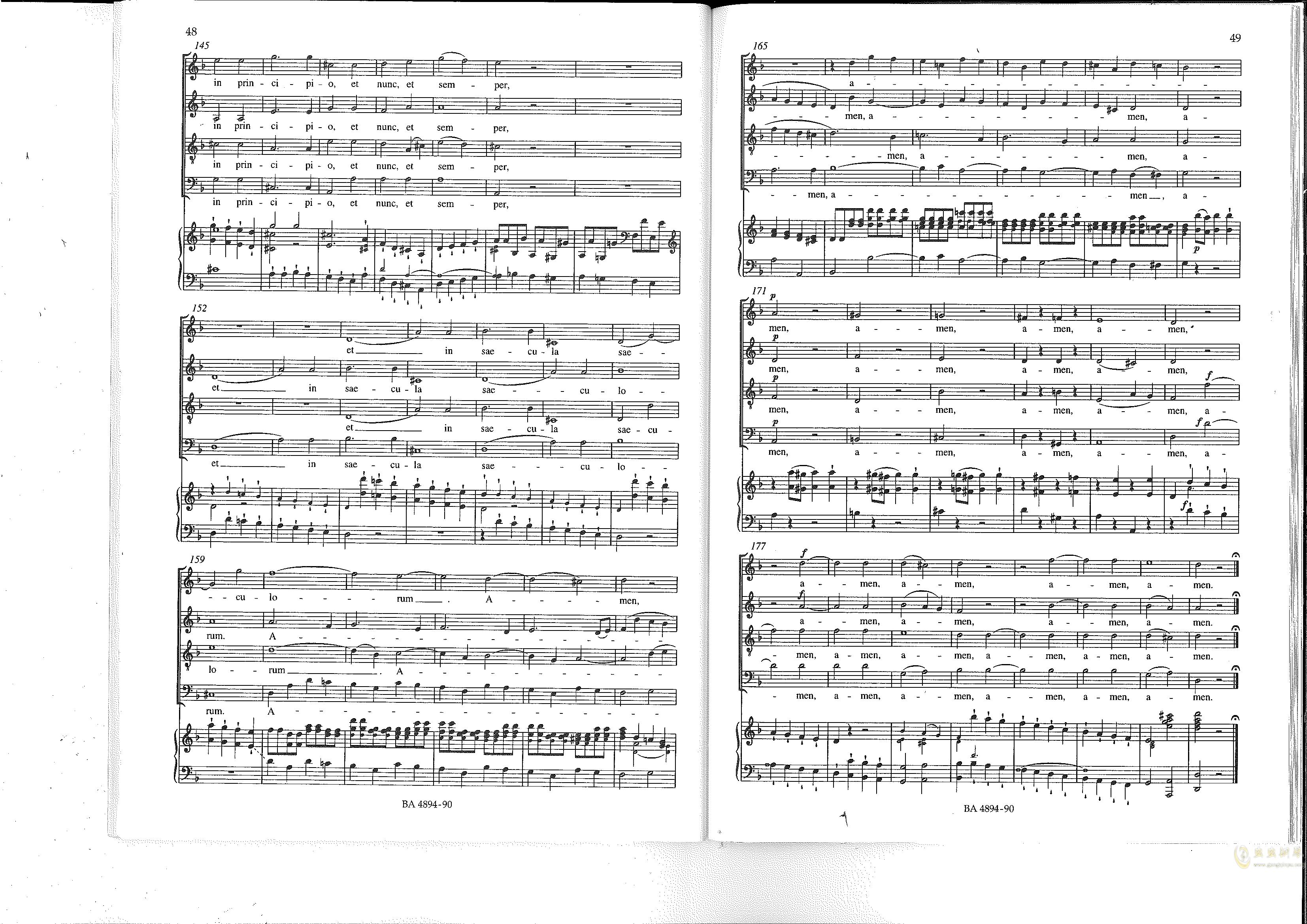 Vesperae solennes de confessore K. 339钢琴谱 第25页