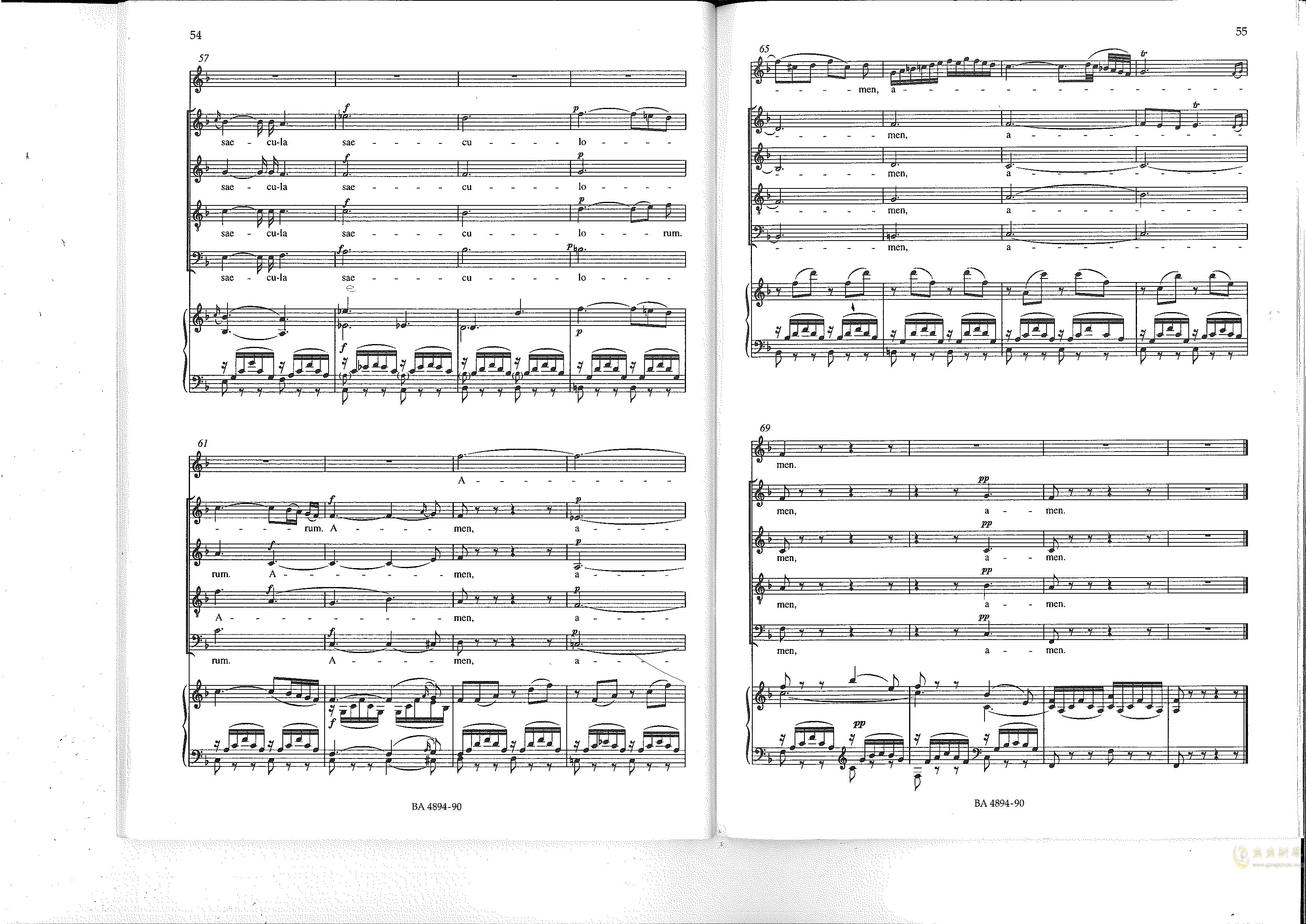 Vesperae solennes de confessore K. 339钢琴谱 第28页