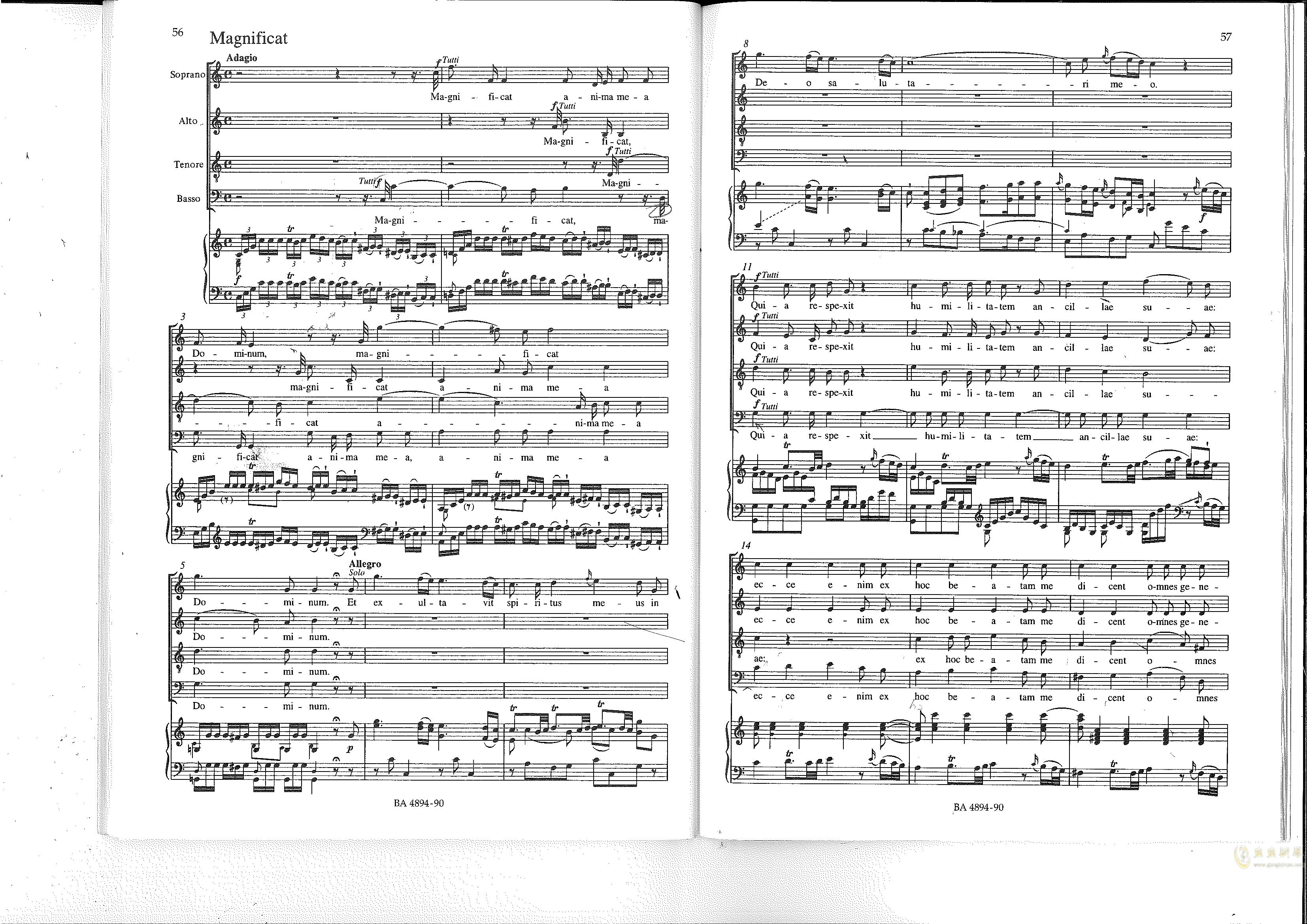 Vesperae solennes de confessore K. 339钢琴谱 第29页