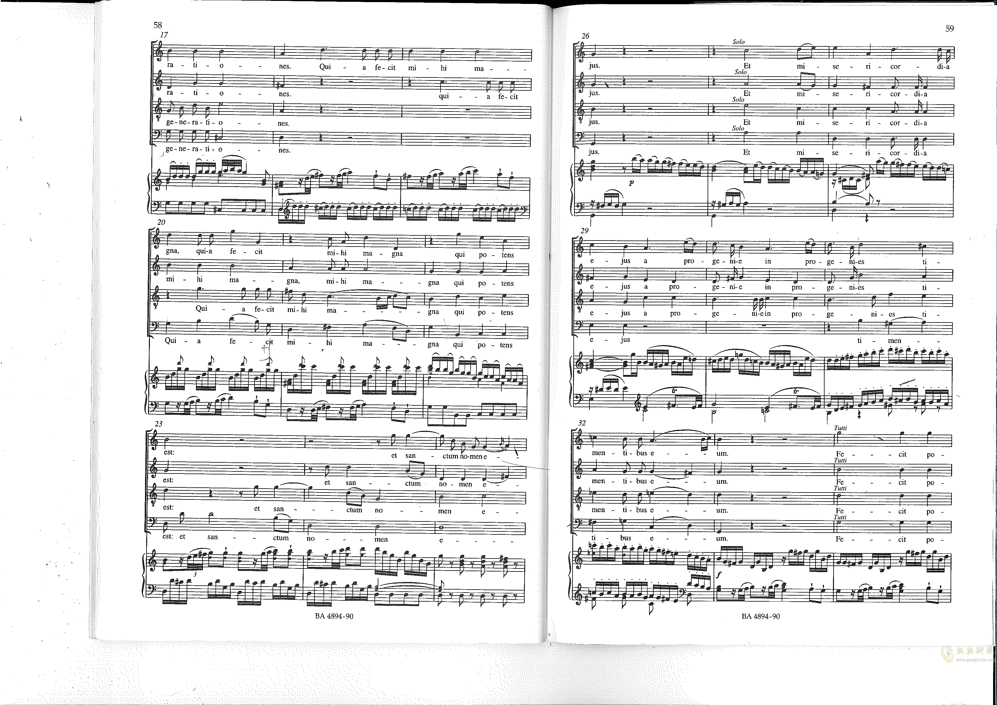 Vesperae solennes de confessore K. 339钢琴谱 第30页