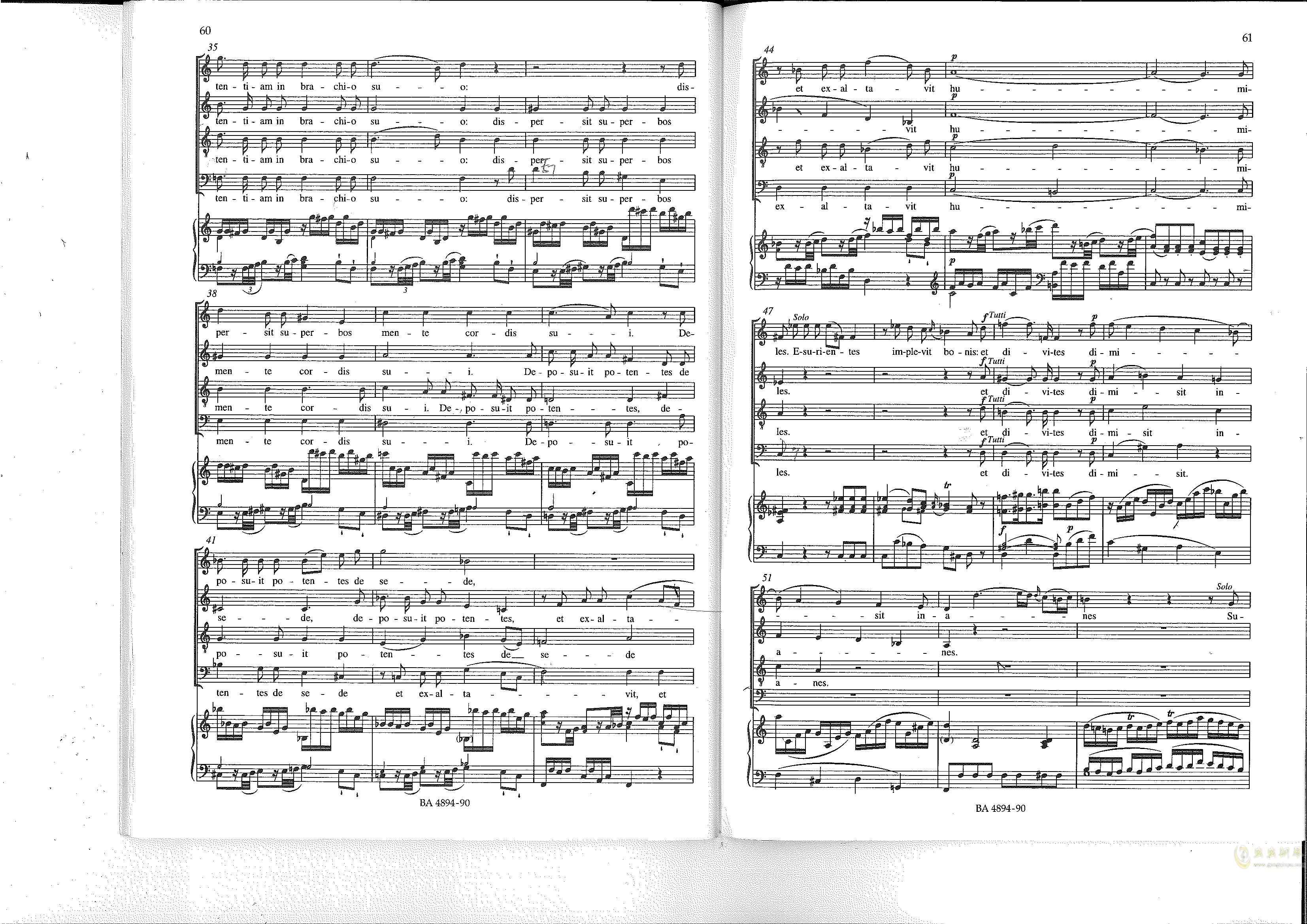 Vesperae solennes de confessore K. 339钢琴谱 第31页