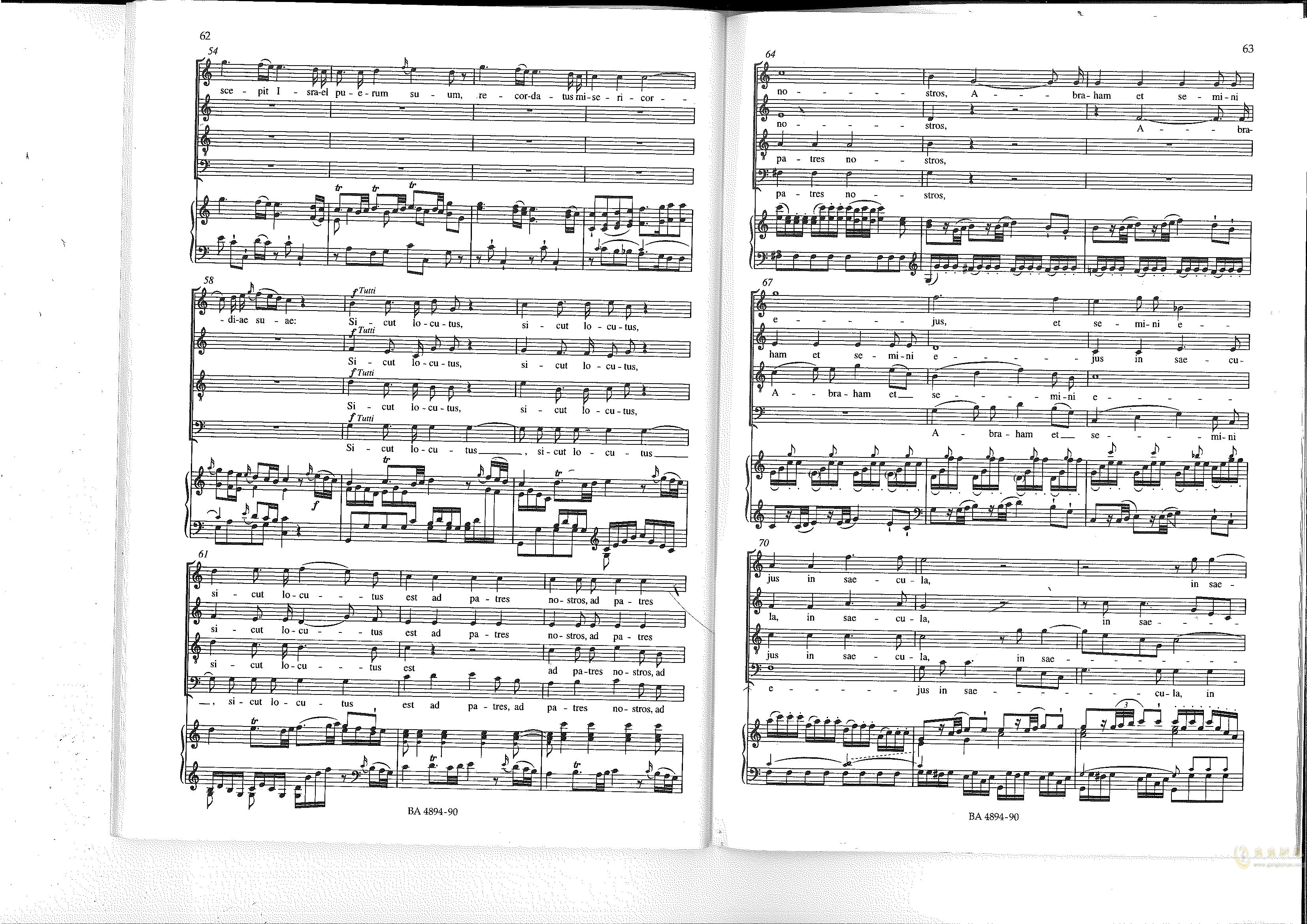 Vesperae solennes de confessore K. 339钢琴谱 第32页