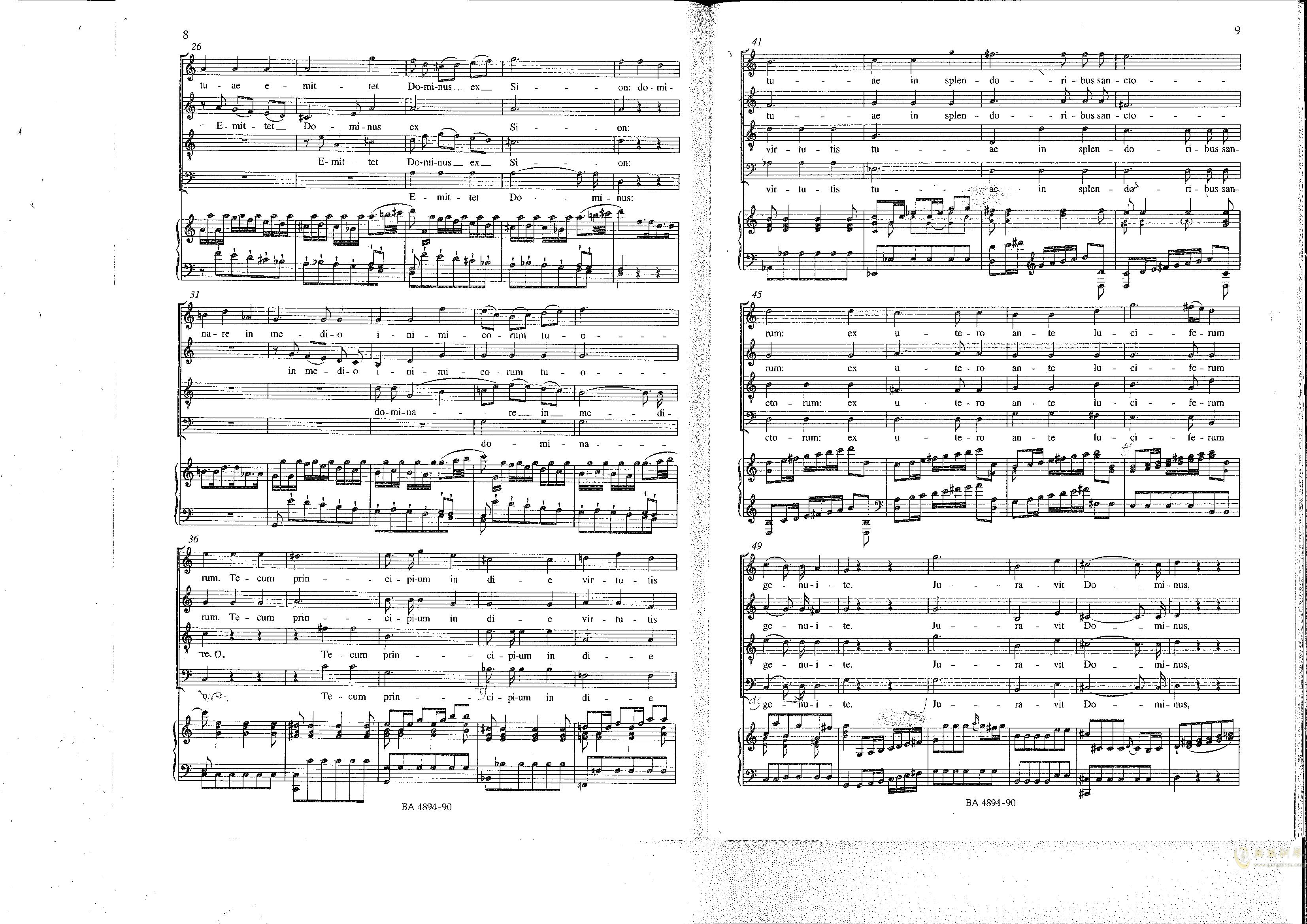 Vesperae solennes de confessore K. 339钢琴谱 第5页