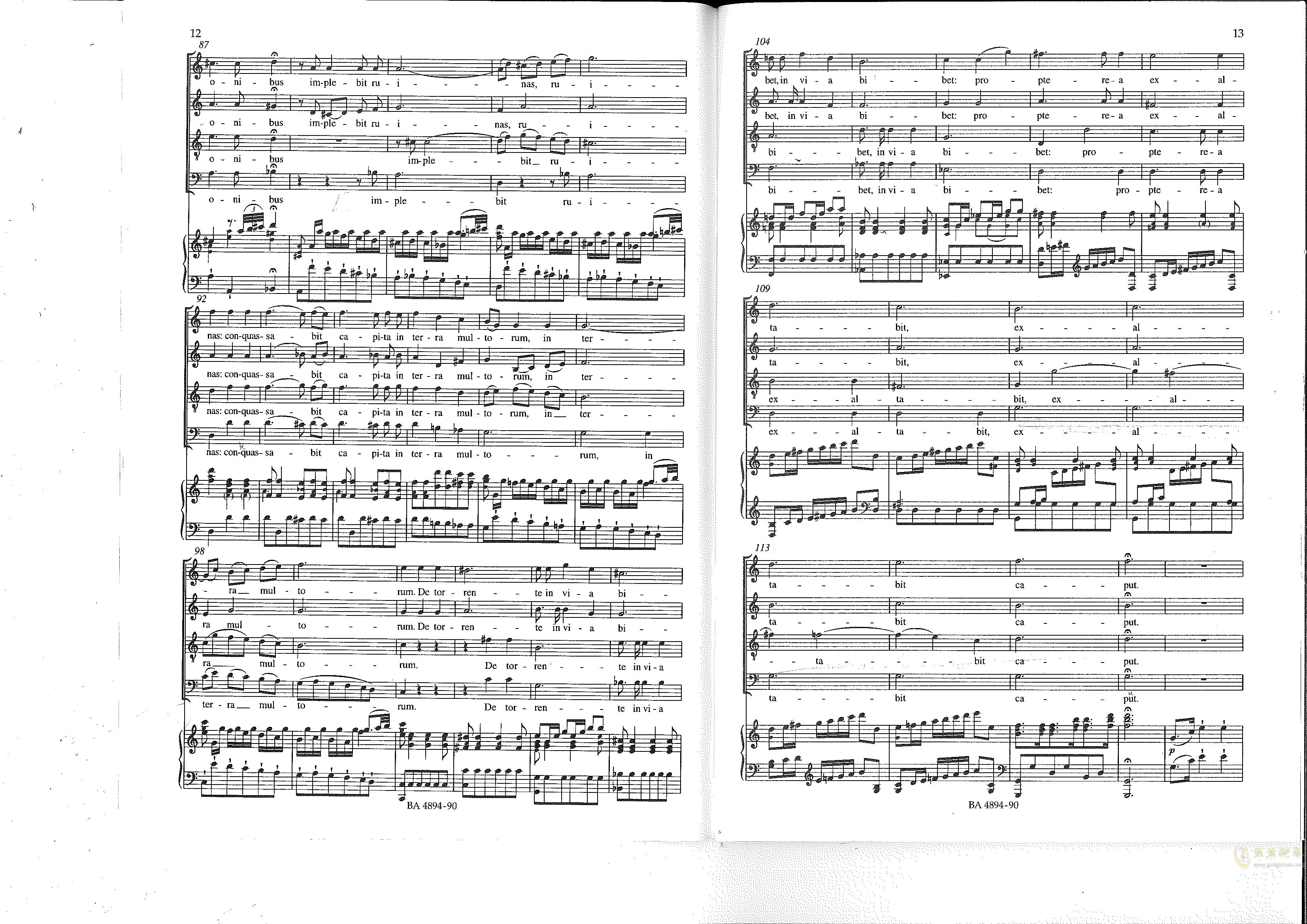 Vesperae solennes de confessore K. 339钢琴谱 第7页