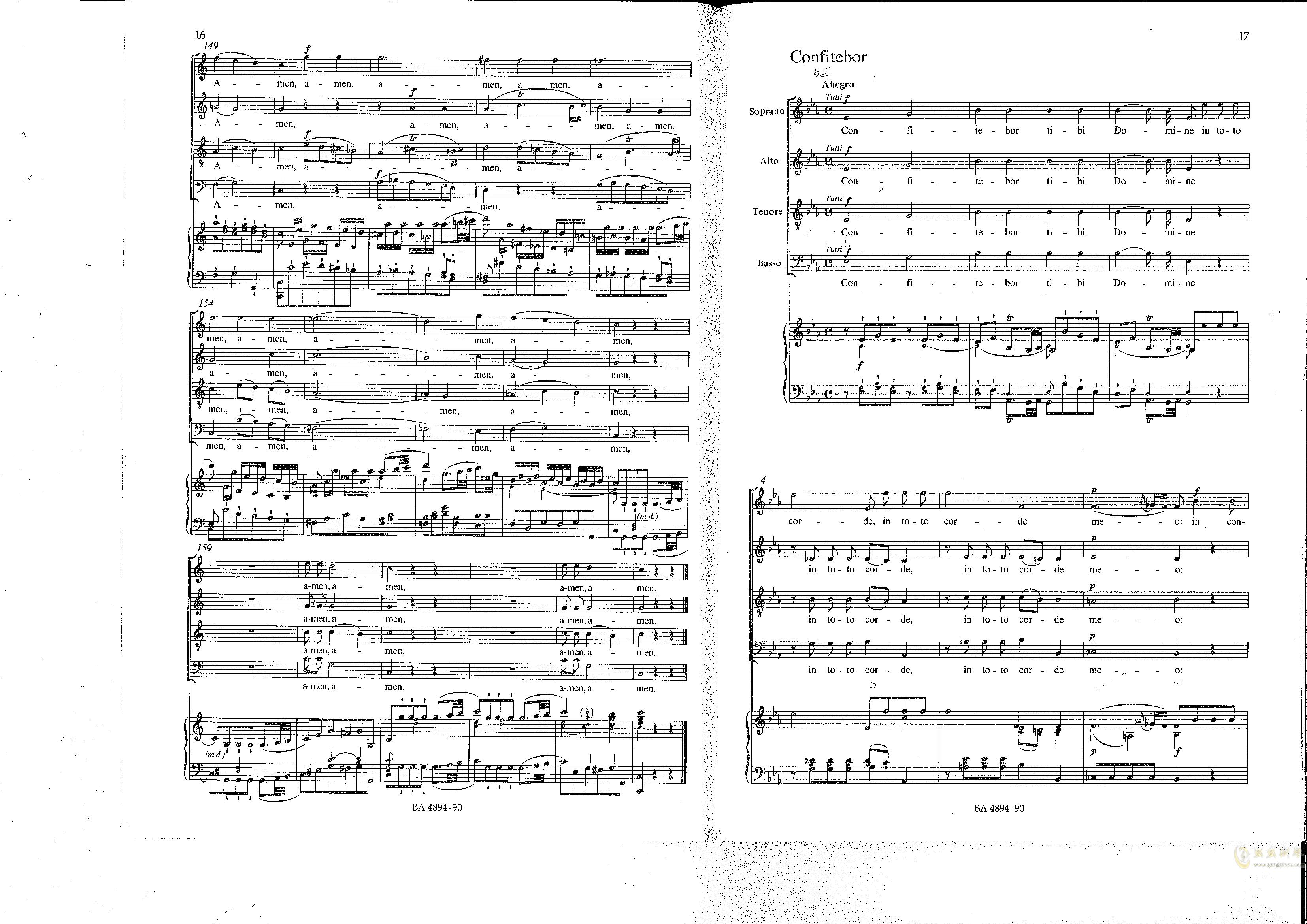 Vesperae solennes de confessore K. 339钢琴谱 第9页