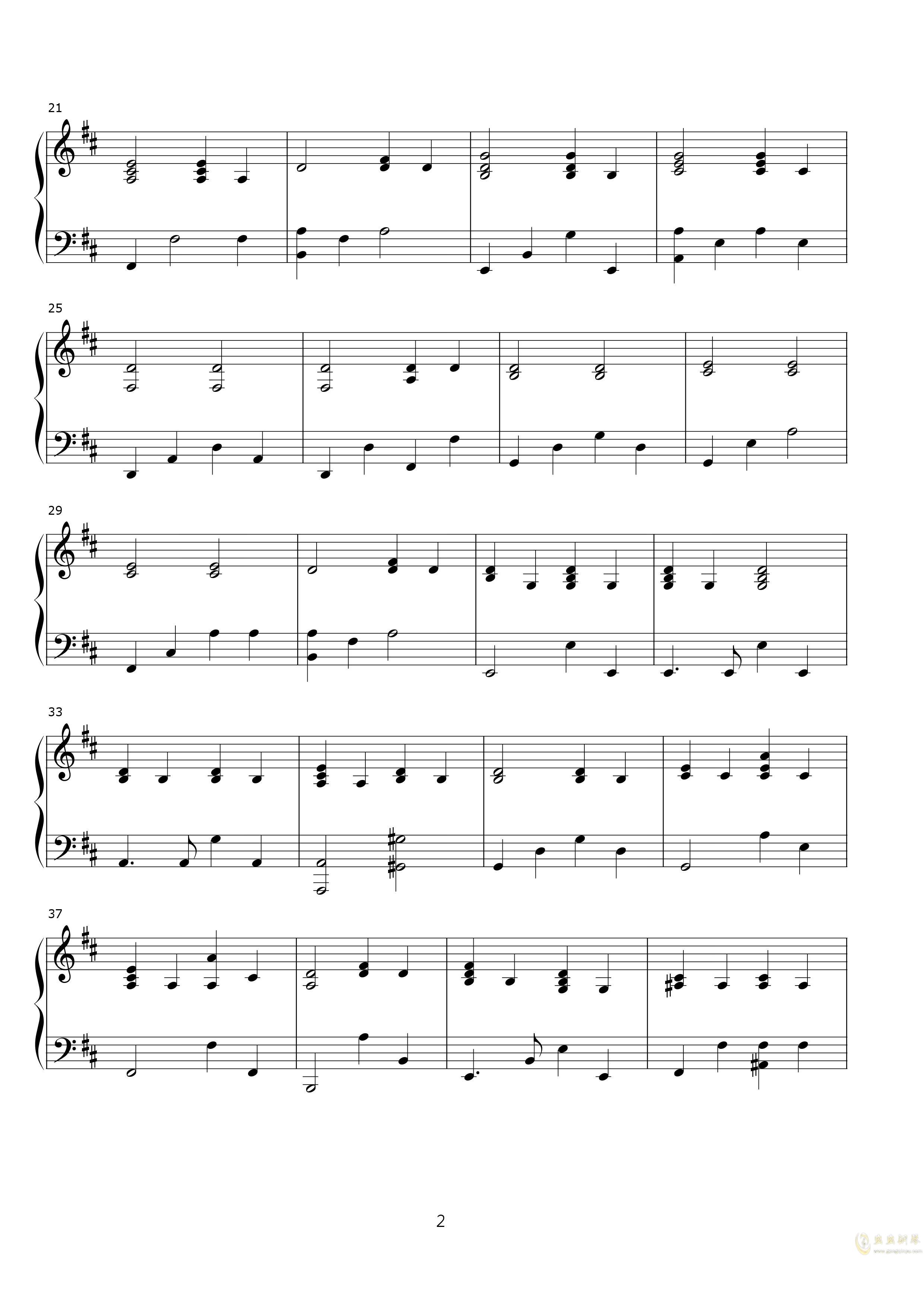 说了再见钢琴谱 第2页