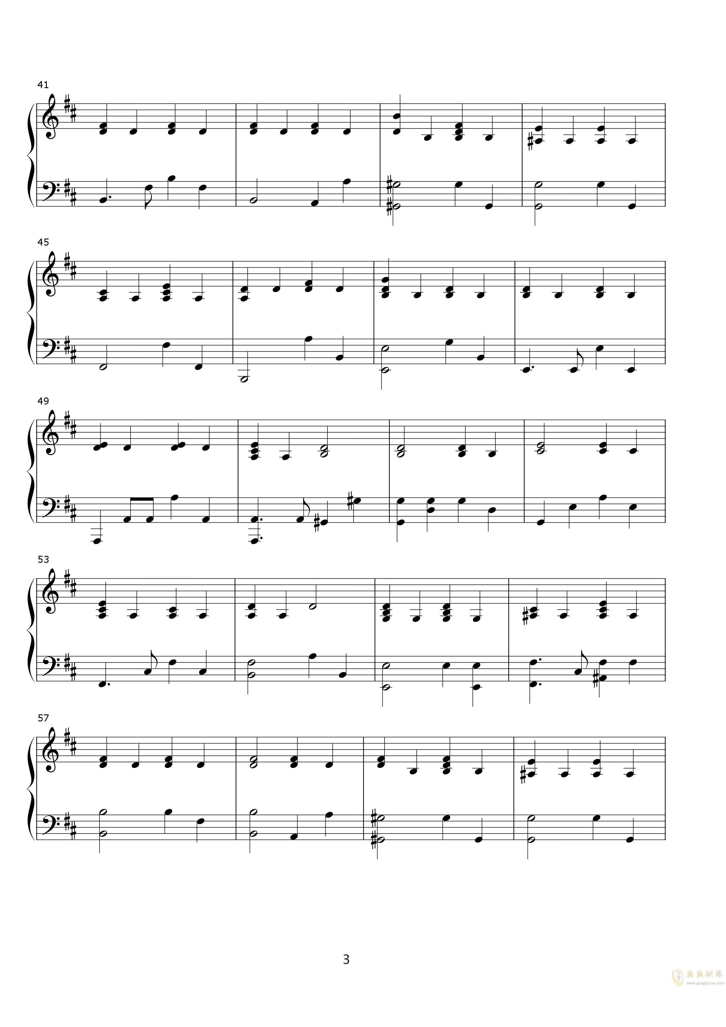 说了再见钢琴谱 第3页