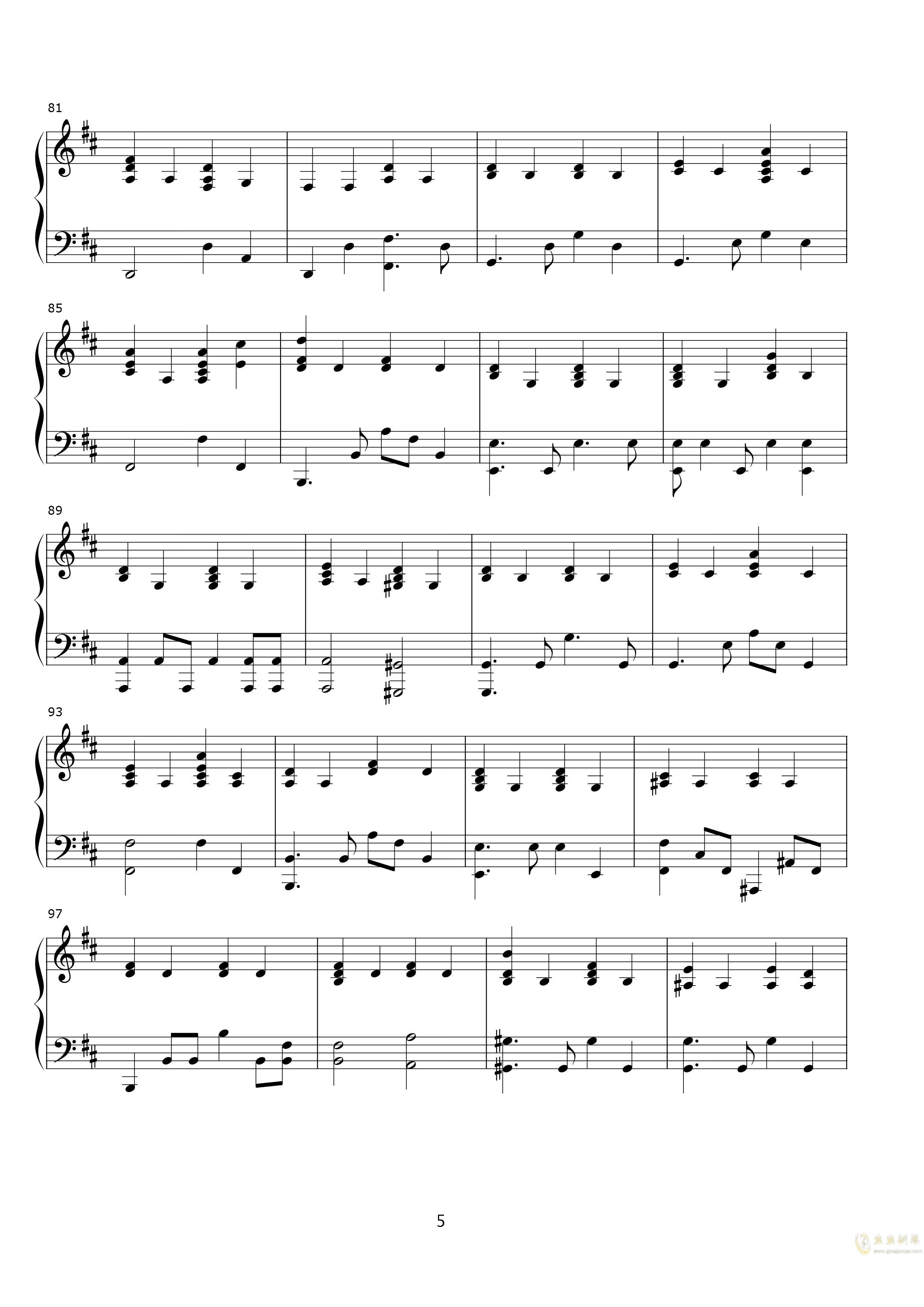 说了再见钢琴谱 第5页