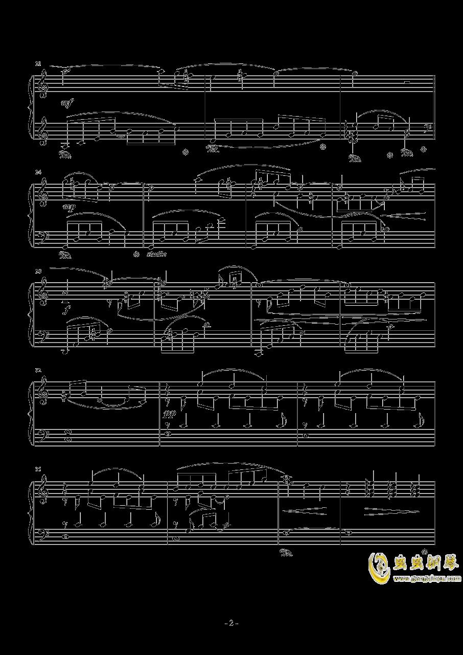 花园主题音乐钢琴谱 第2页