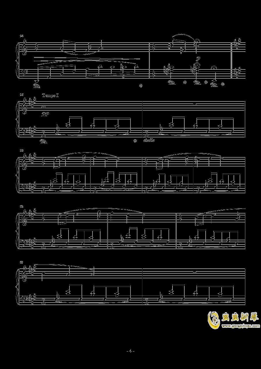 花园主题音乐钢琴谱 第4页