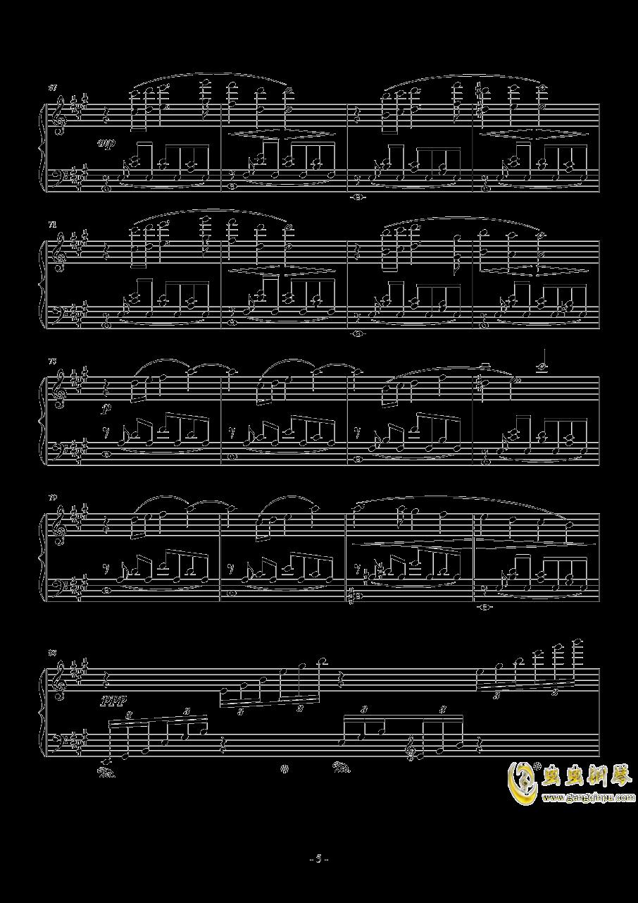 花园主题音乐钢琴谱 第5页