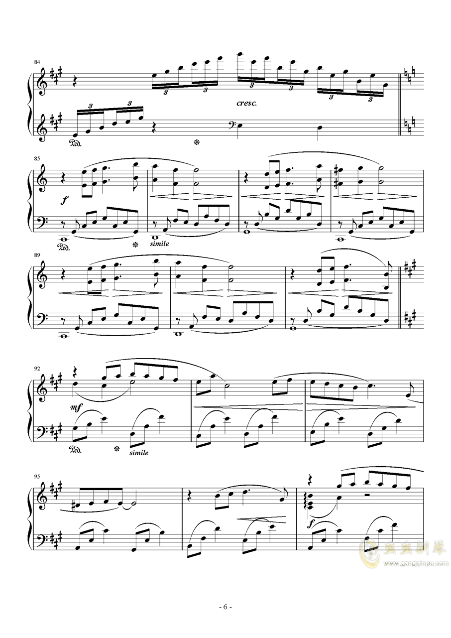 花园主题音乐钢琴谱 第6页