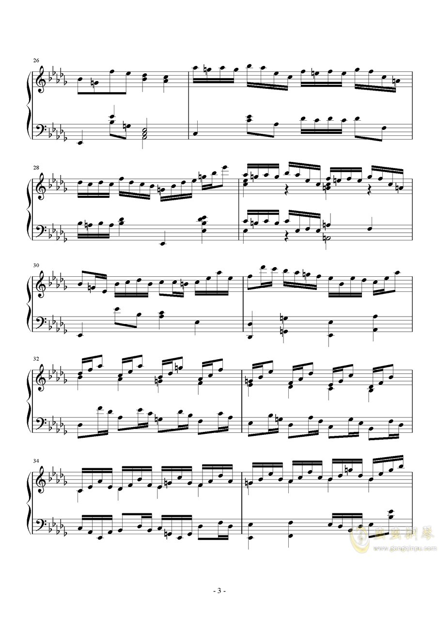 第二钢琴奏鸣曲第一乐章钢琴谱 第3页