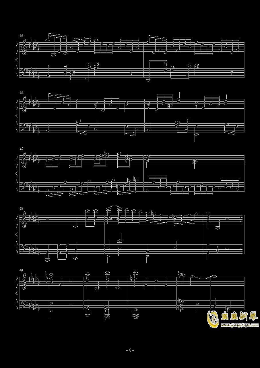 第二钢琴奏鸣曲第一乐章钢琴谱 第4页