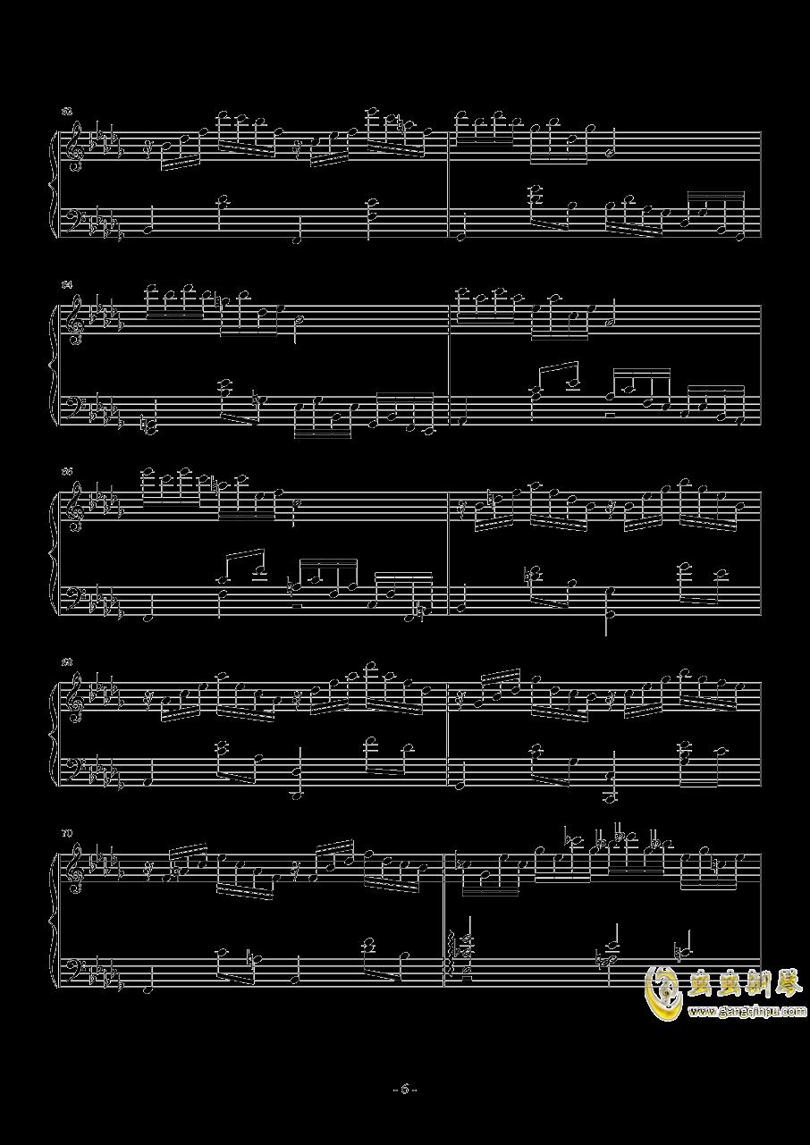 第二钢琴奏鸣曲第一乐章钢琴谱 第6页