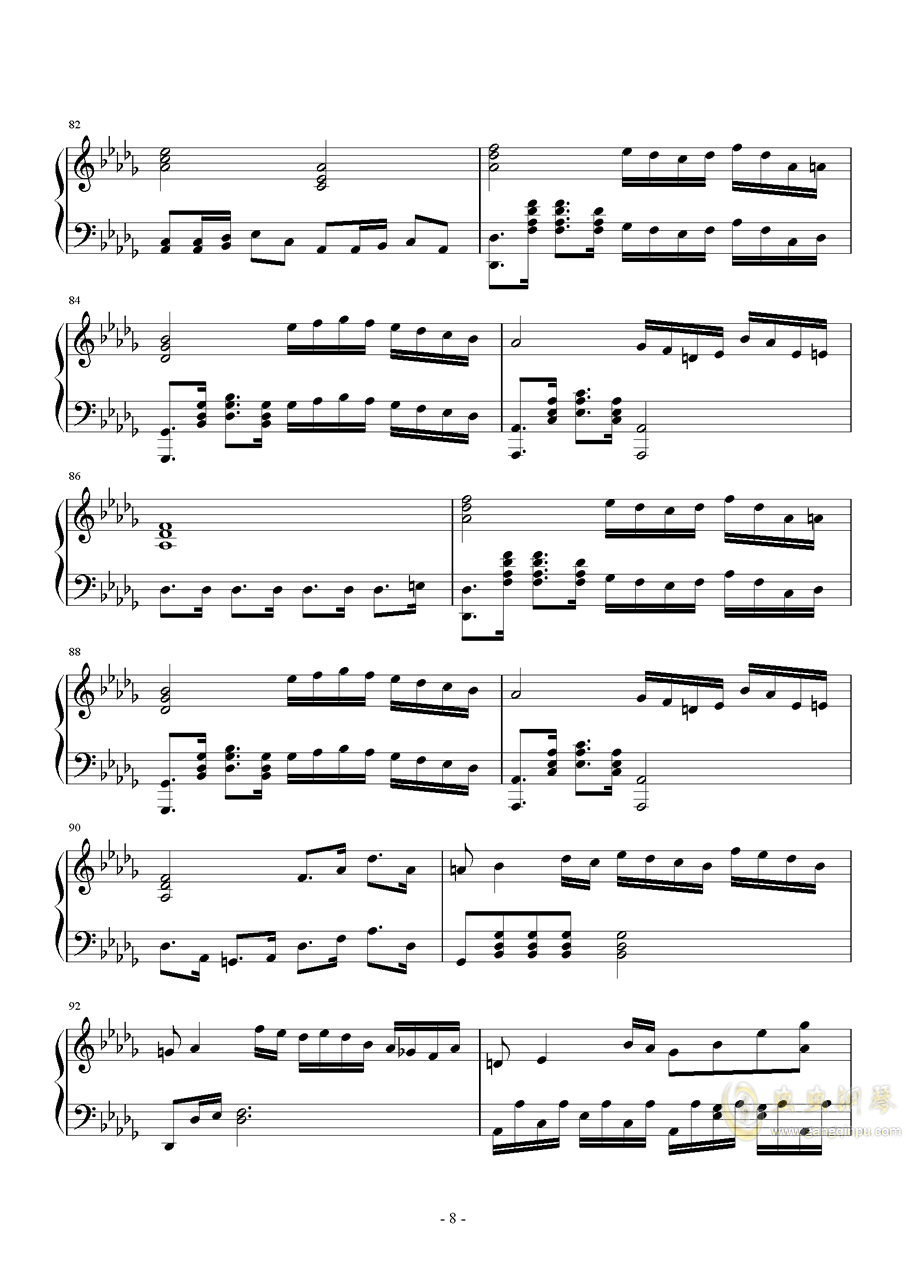 第二钢琴奏鸣曲第一乐章钢琴谱 第8页