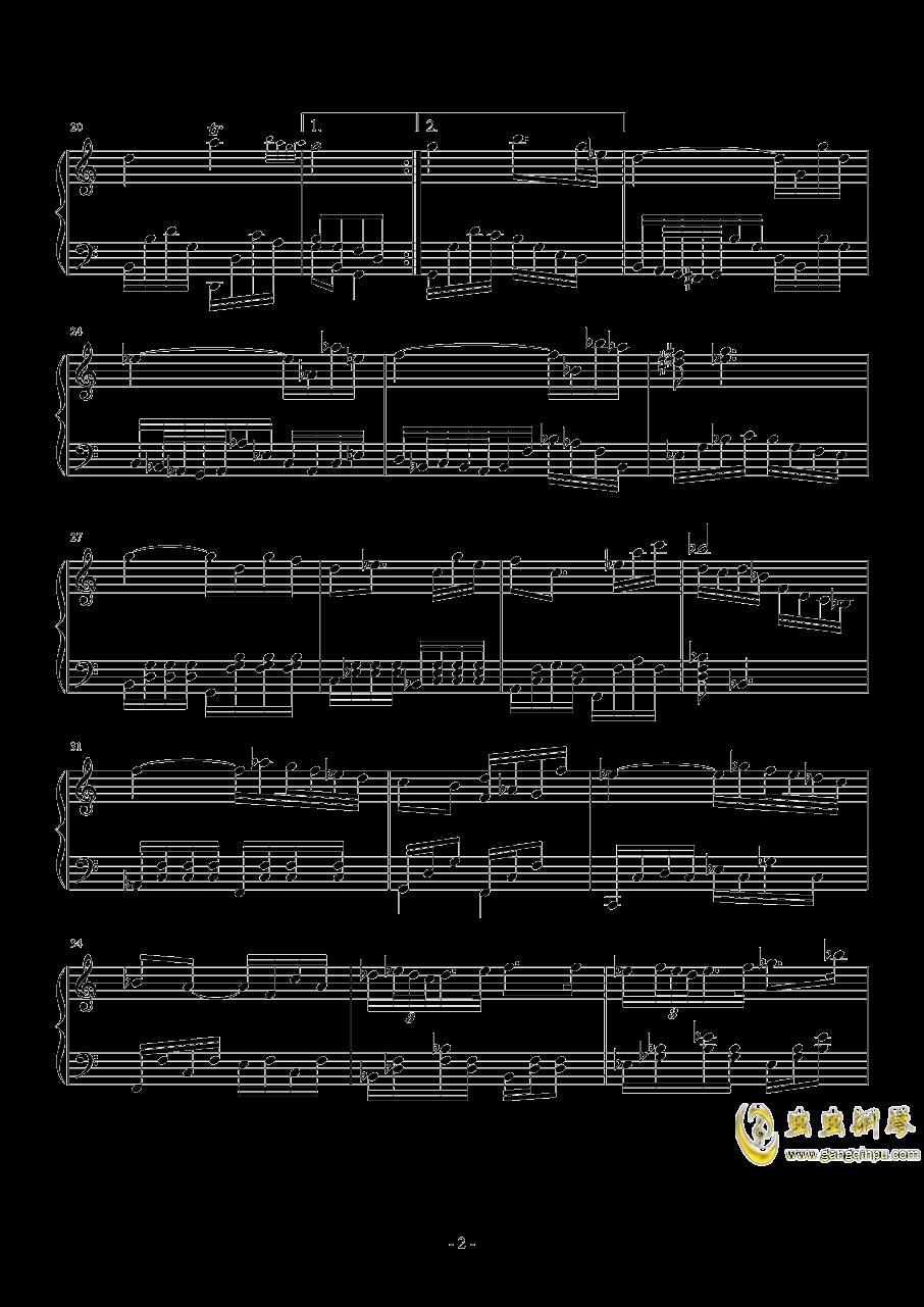 第三钢琴奏鸣曲第二乐章钢琴谱 第2页