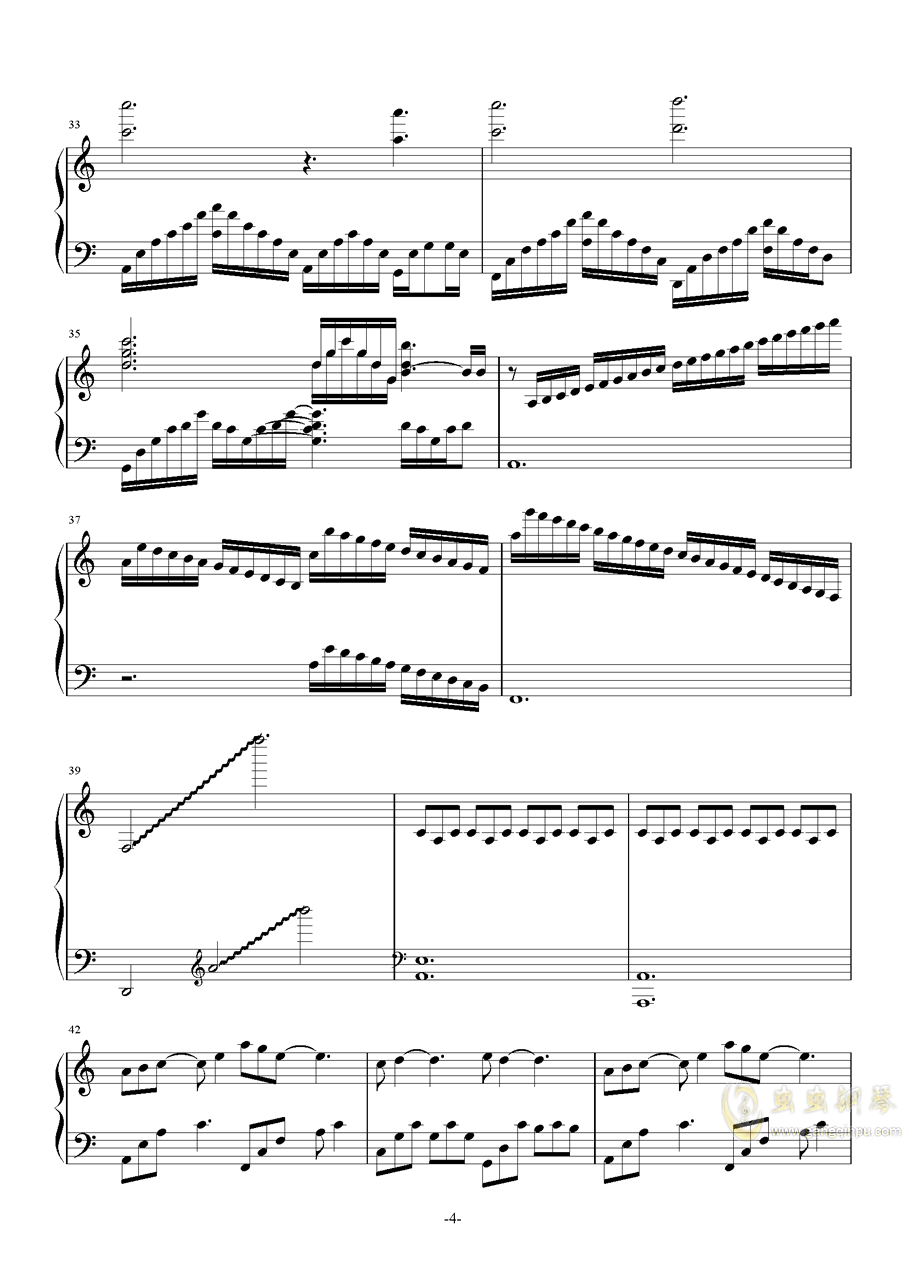 TwoStepsFromHell-Nero钢琴谱 第4页