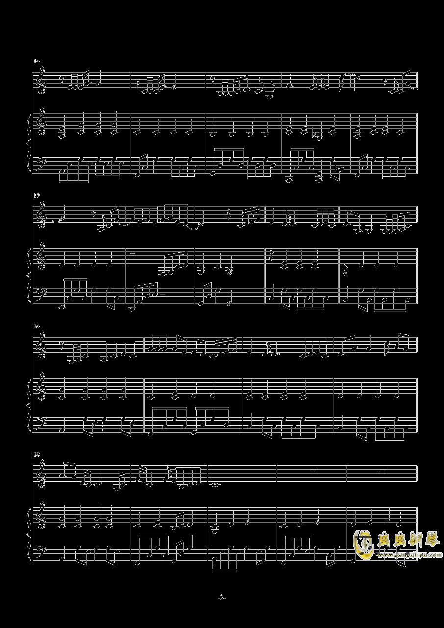 空白格钢琴谱 第2页