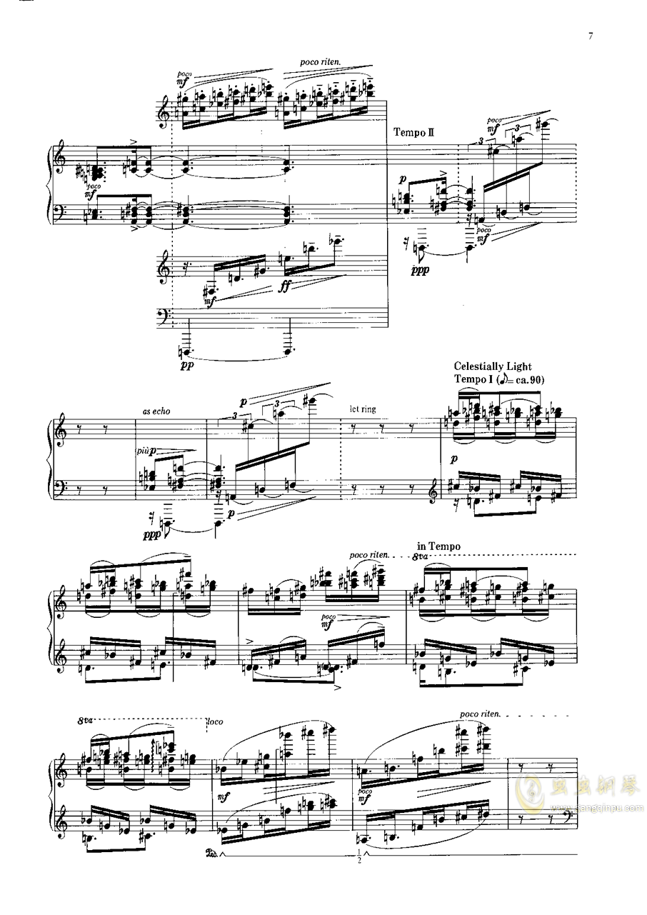 雨树素描II钢琴谱 第6页