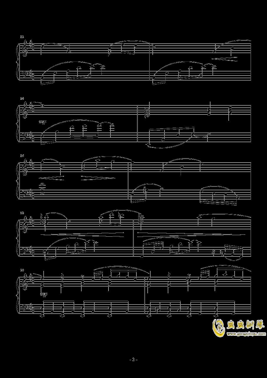 最终幻想13雷霆主题歌(ライトニングのテ�`マ)钢琴谱 第2页
