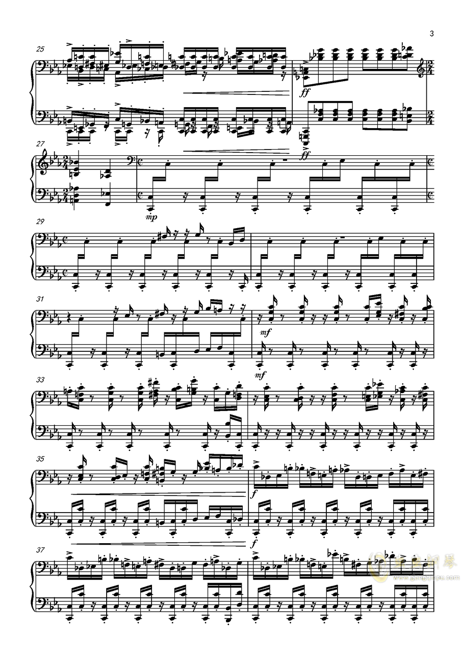 Game钢琴谱 第3页