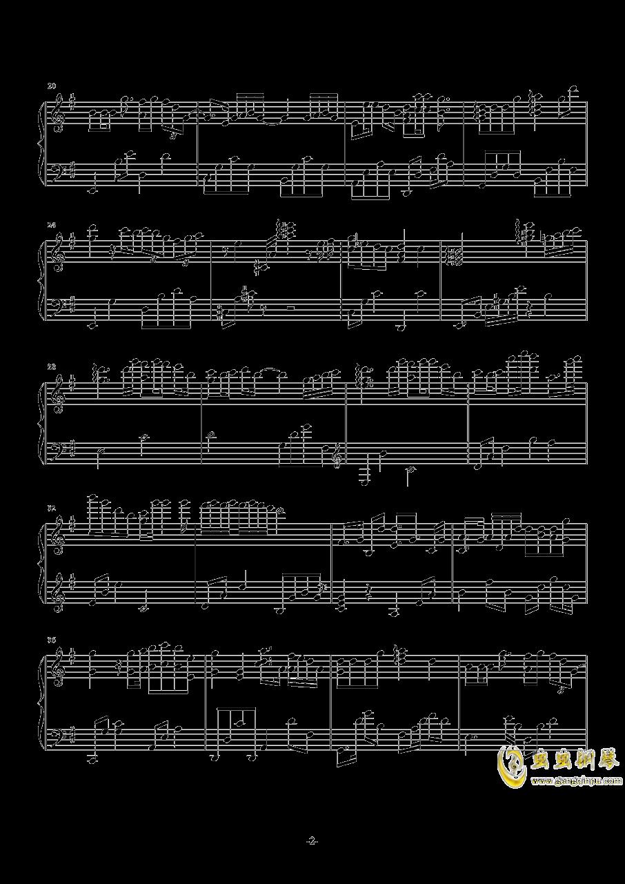 化蝶钢琴谱 第2页图片