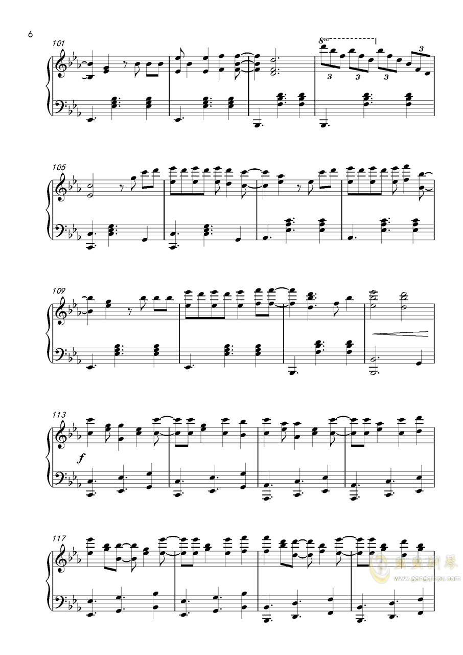 despacito钢琴谱 第6页图片