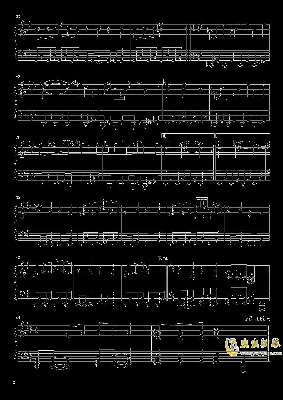 【东方绀珠传】兔已着陆钢琴谱 第2页