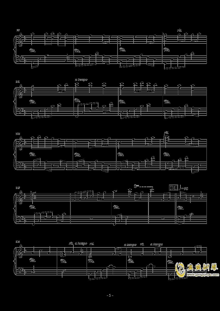 Always with me钢琴谱 第5页