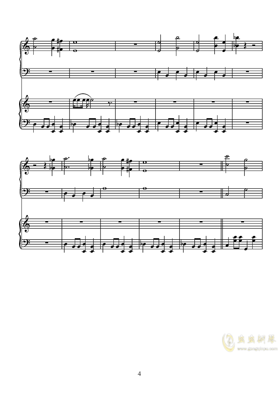 唐探钢琴谱 第4页