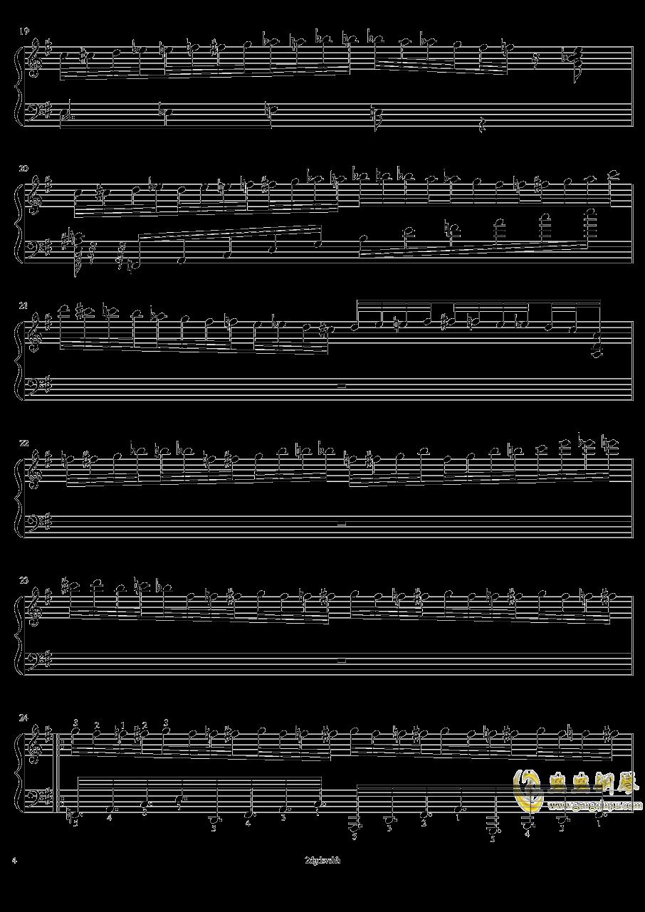 HSE超技练习曲2――火蚁钢琴谱 第4页