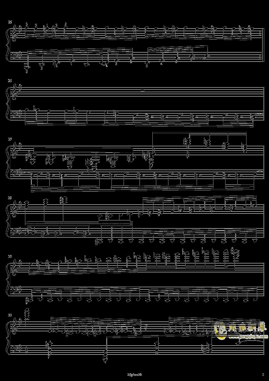 HSE超技练习曲2――火蚁钢琴谱 第5页