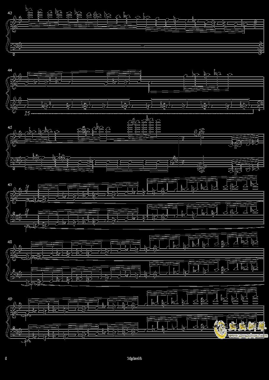 HSE超技练习曲2――火蚁钢琴谱 第8页