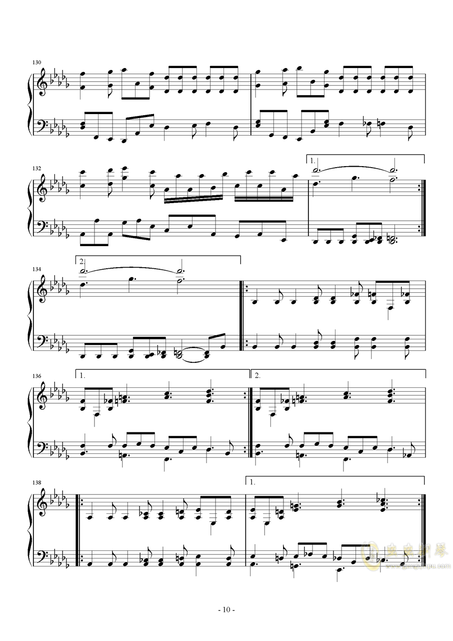 第二钢琴奏鸣曲第三乐章钢琴谱 第10页