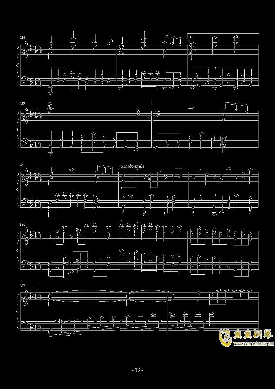 第二钢琴奏鸣曲第三乐章钢琴谱 第15页