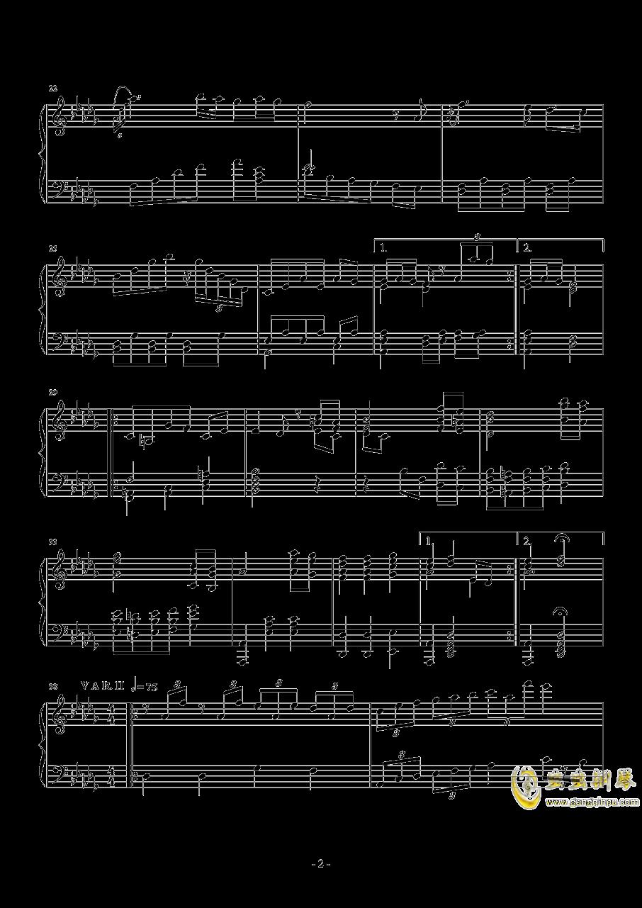 第二钢琴奏鸣曲第三乐章钢琴谱 第2页
