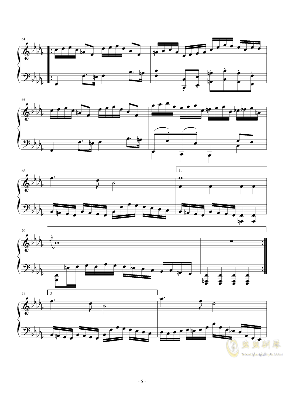 第二钢琴奏鸣曲第三乐章钢琴谱 第5页