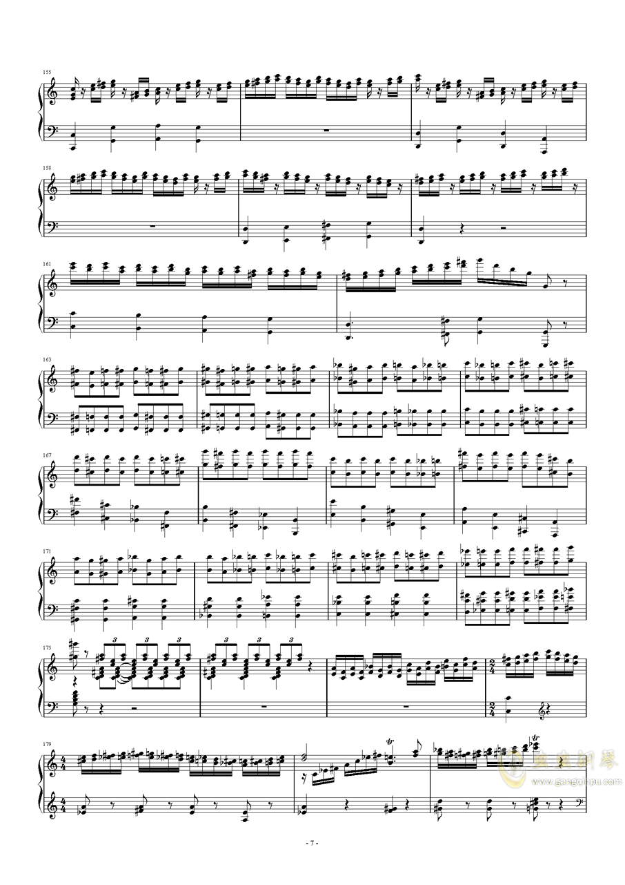 猫和老鼠钢琴谱 第7页