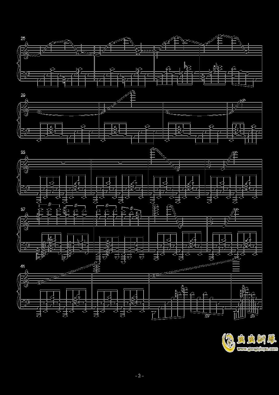火星练习曲 Op.2 No.6钢琴谱 第2页
